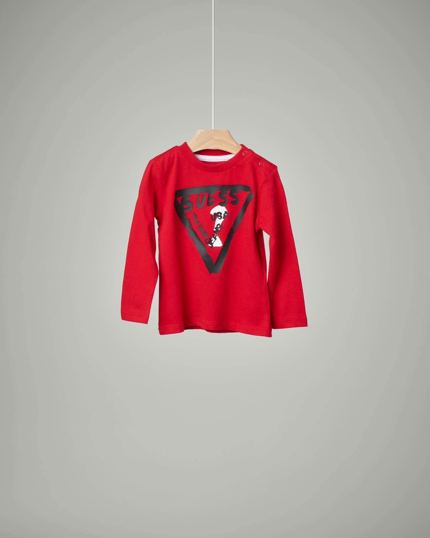 T-shirt rossa logo