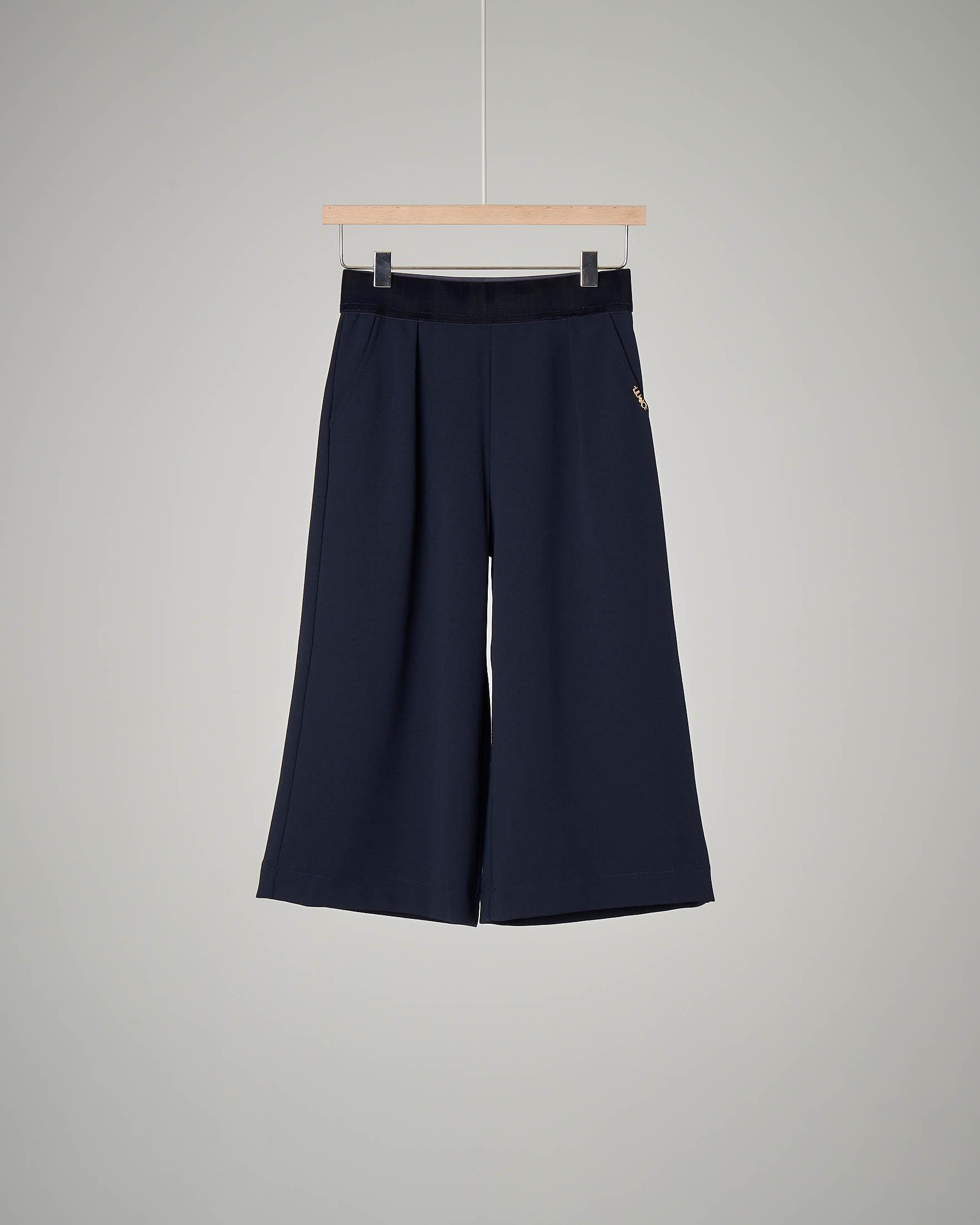 Pantalone blu cropped