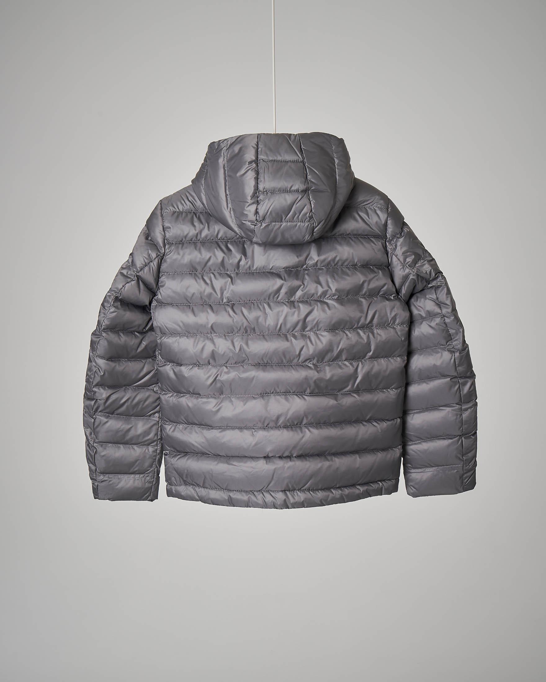 Piumino grigio con cappuccio 10-16 anni