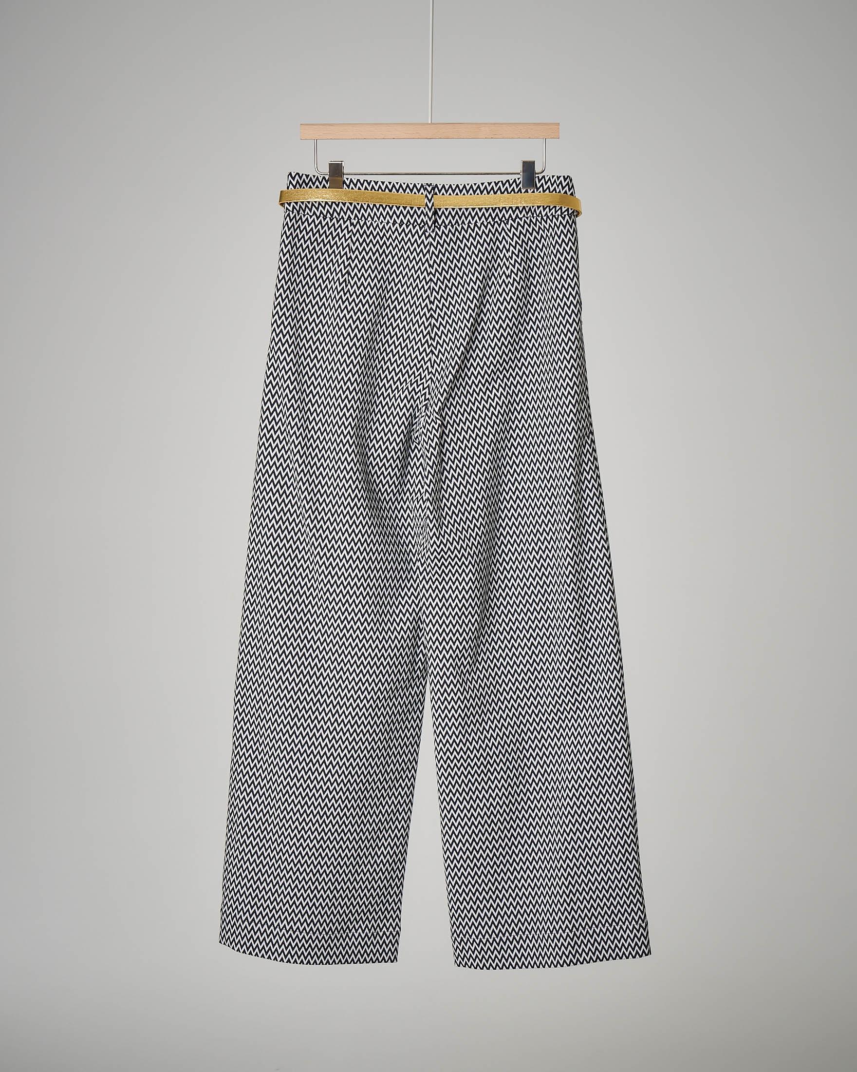 Pantalone blu palazzo 8-14 anni