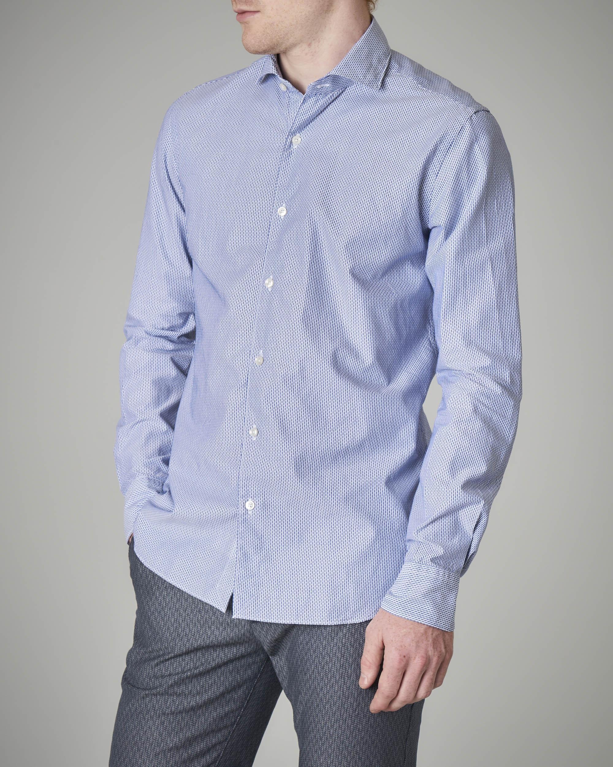 Camicia azzurra micro-disegno