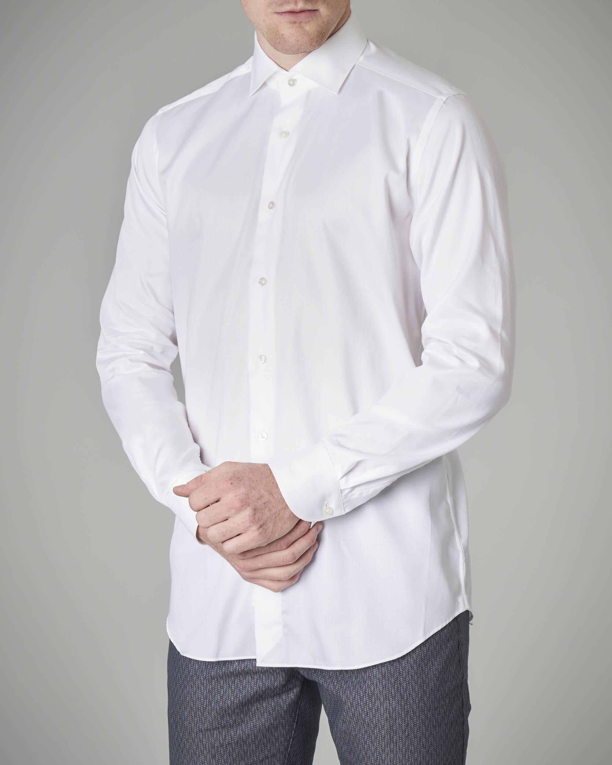 Camicia bianca micro-armatura