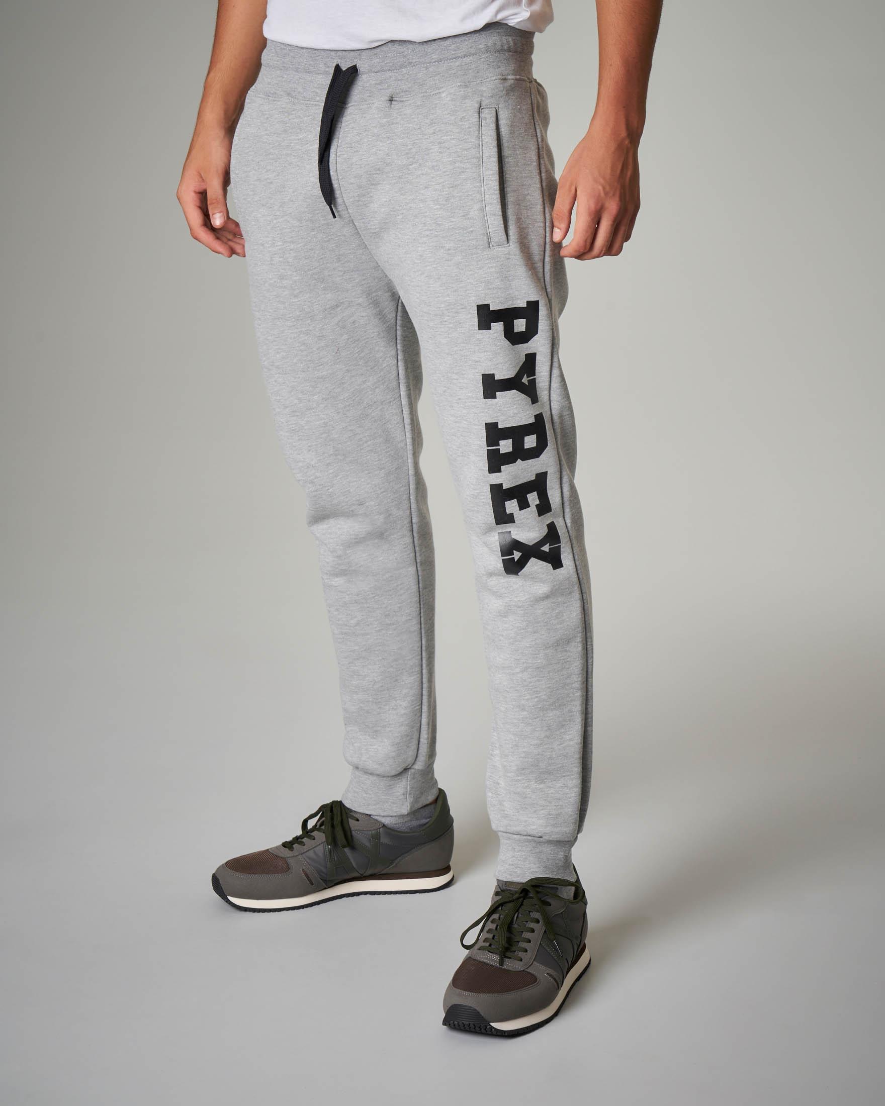 Pantalone grigio in felpa
