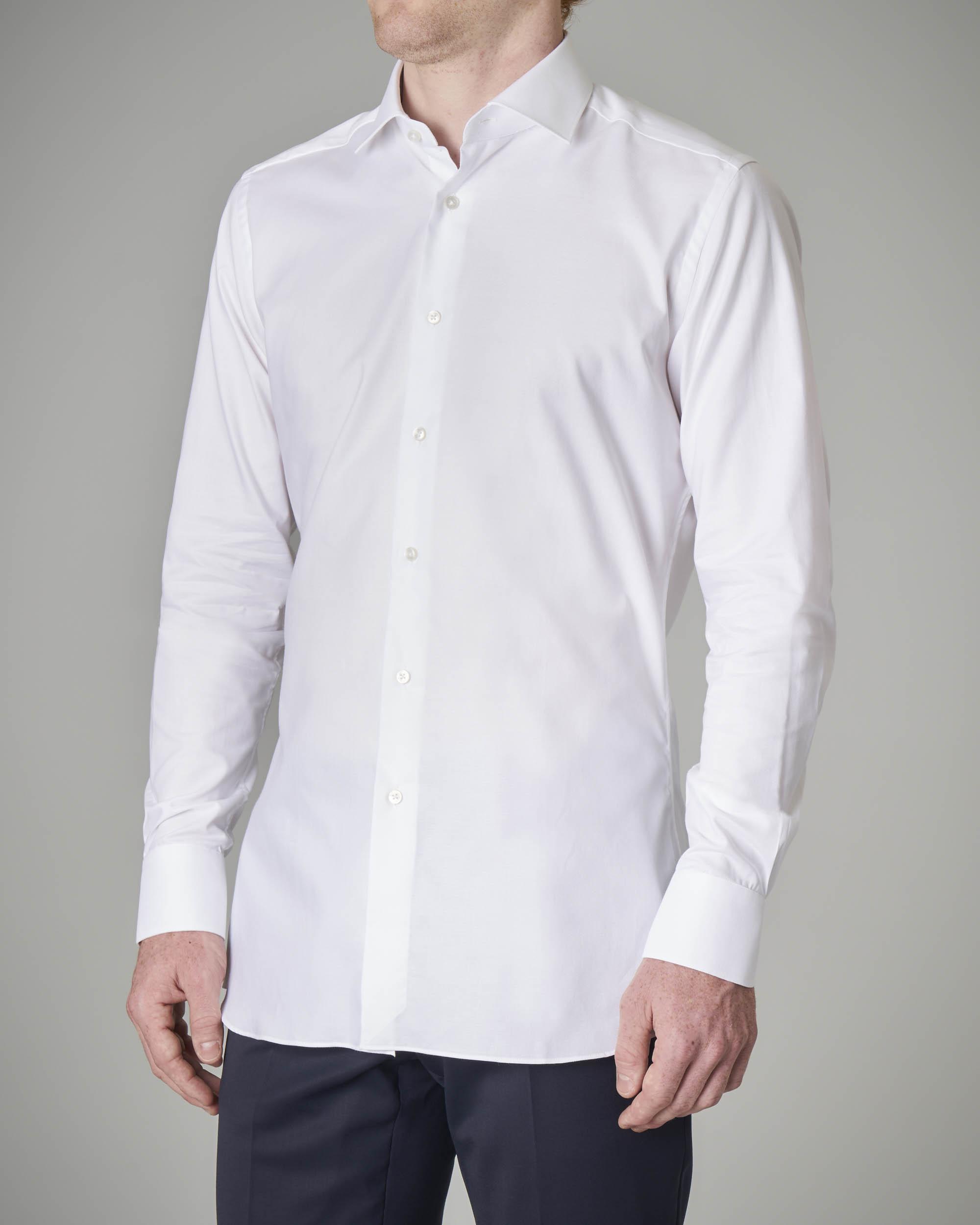 Camicia bianca tinta unita