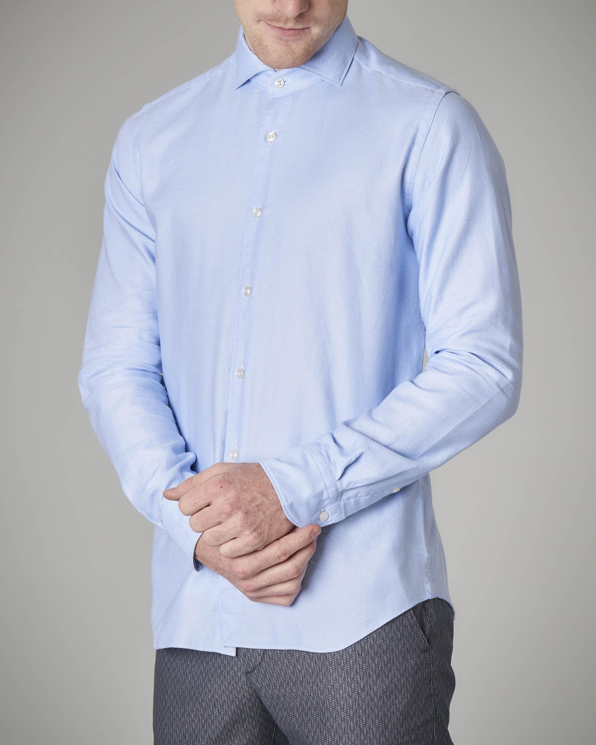 Camicia azzurra micro-armatura
