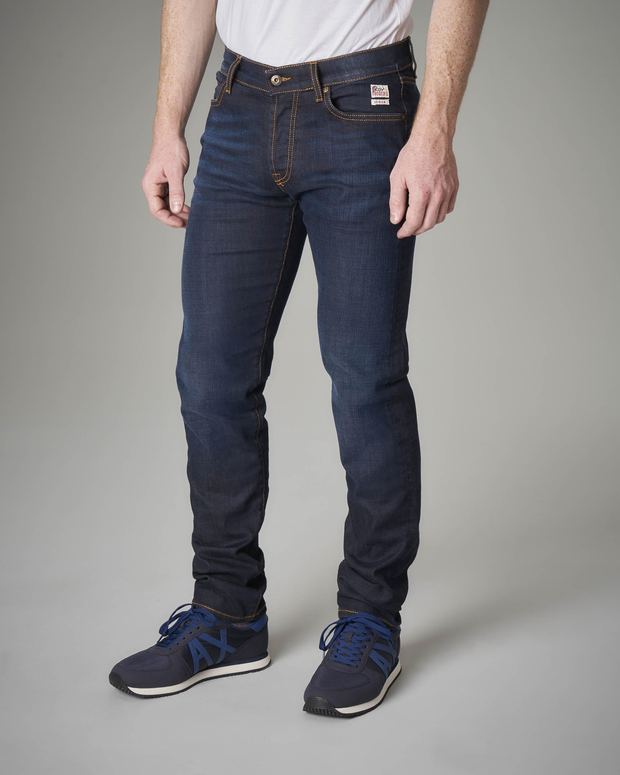 Jeans lavaggio scuro vita alta
