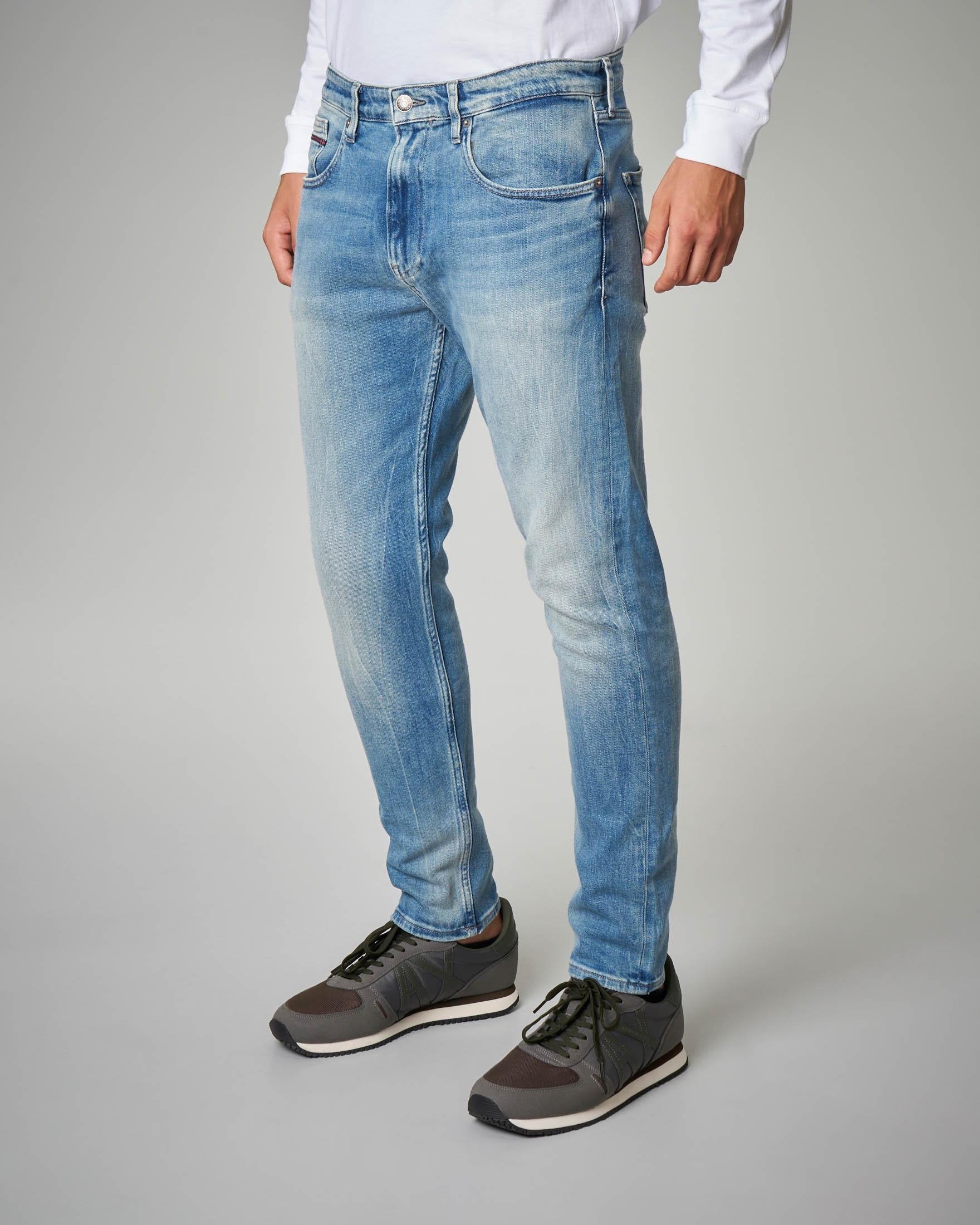 Jeans tapered-fit chiaro
