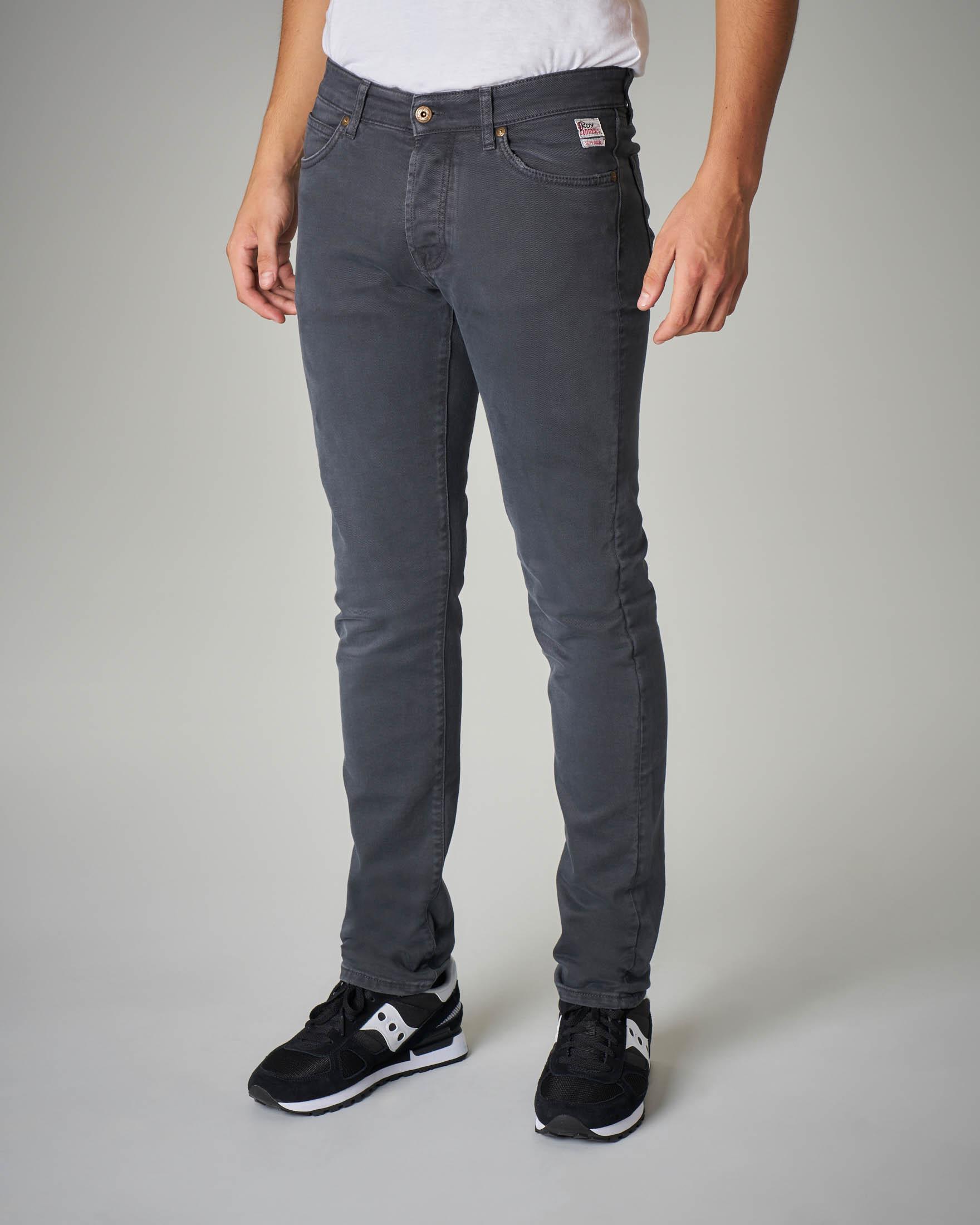 Pantalone cinque tasche grigio scuro