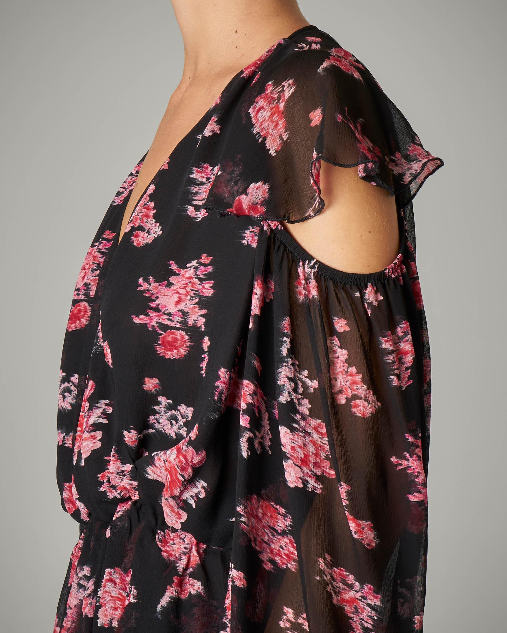 Blusa in creponne stampa floreale