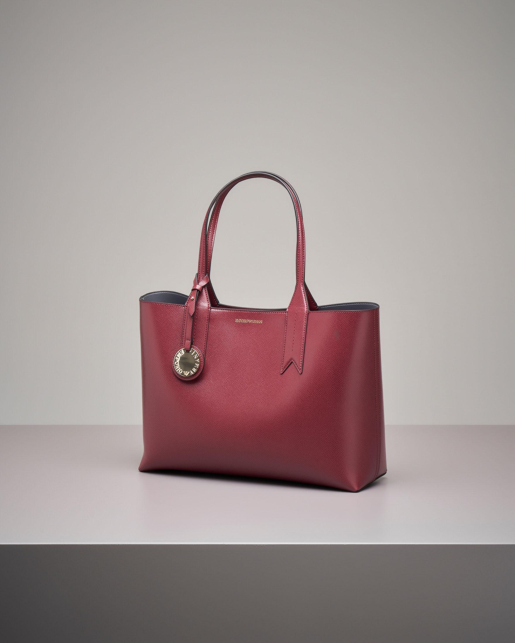 Shopper bag rigida bordeaux misura grande