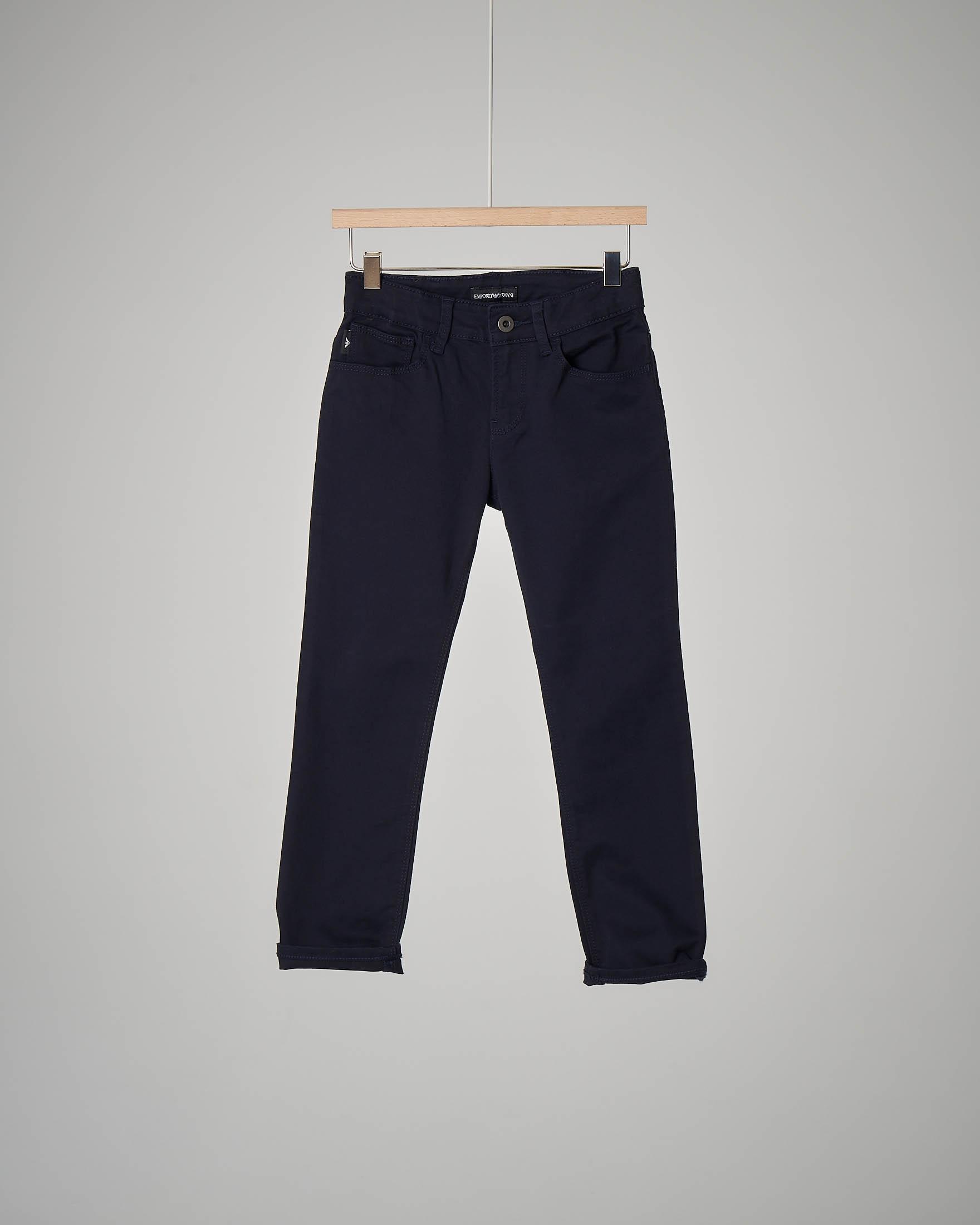 Pantalone cinque tasche blu