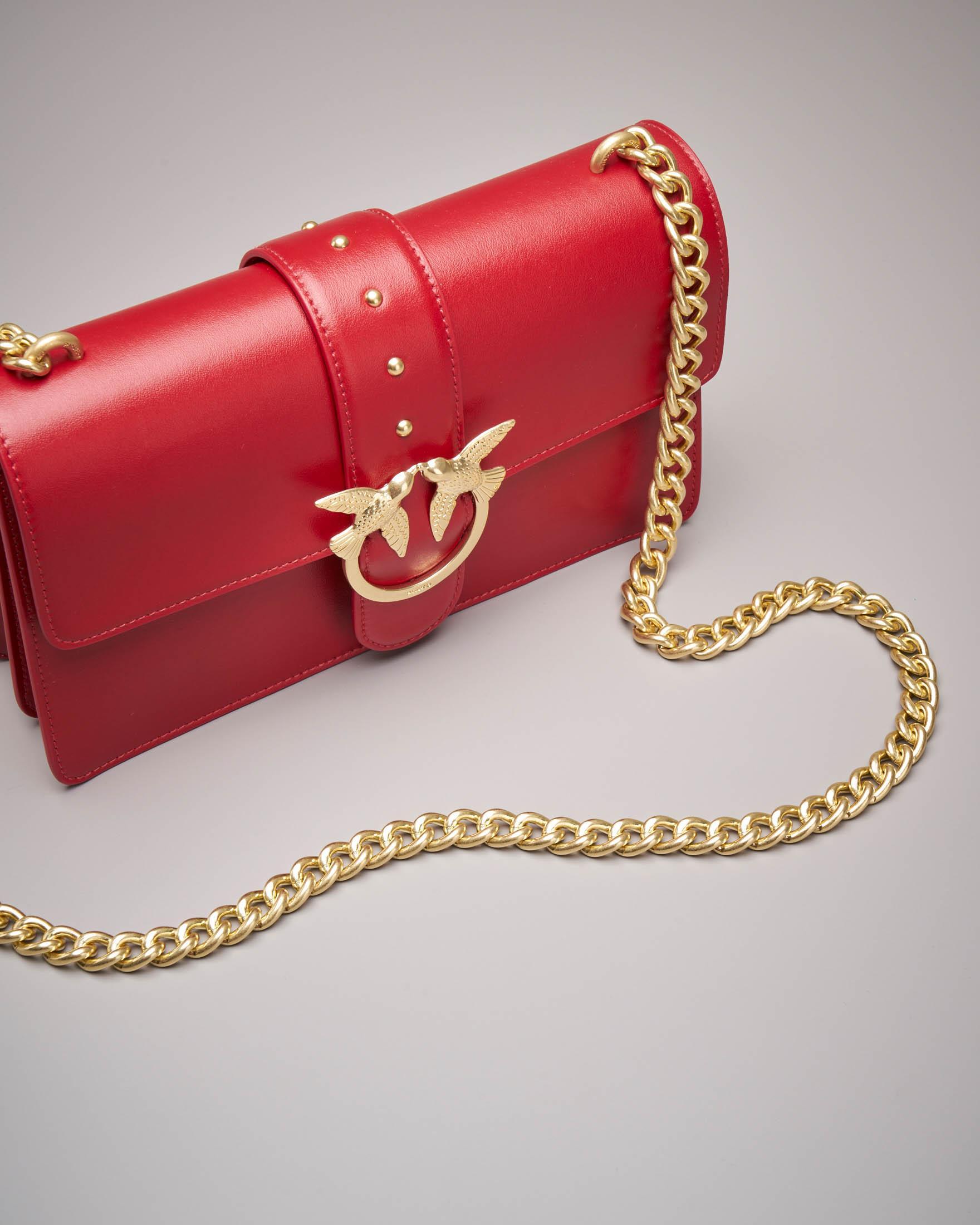 Love Bag: tracolla rossa in vera pelle