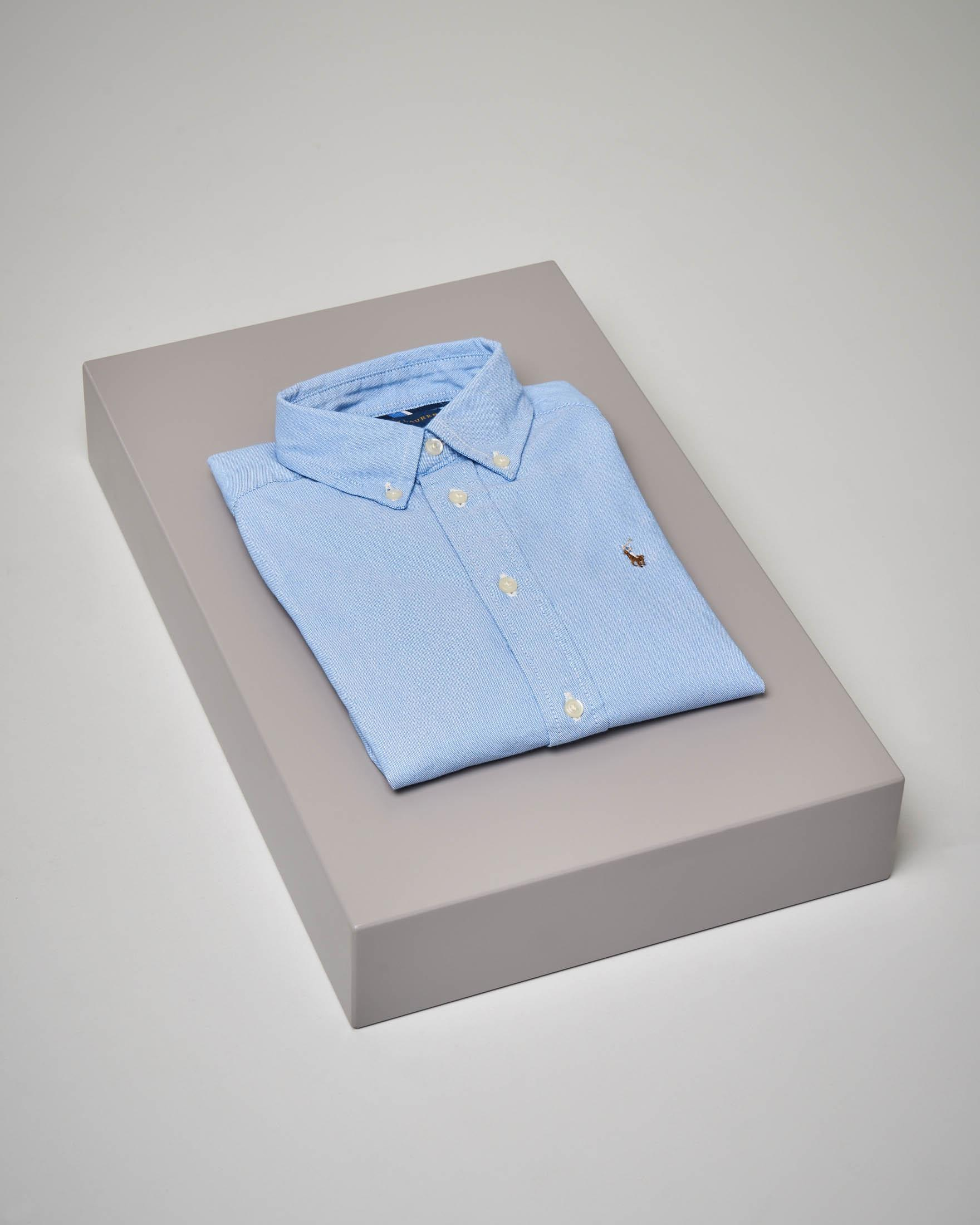 Camicia azzurra stretch button-down