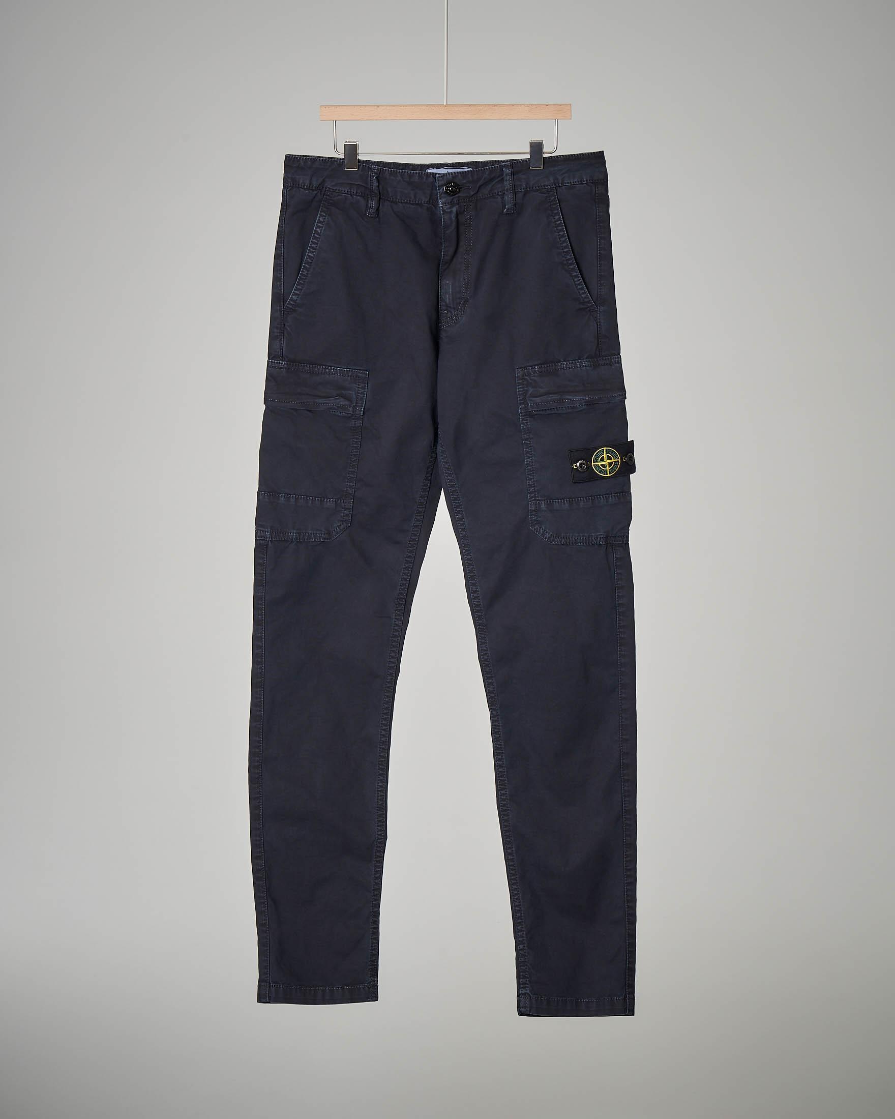 Pantalone cargo blu