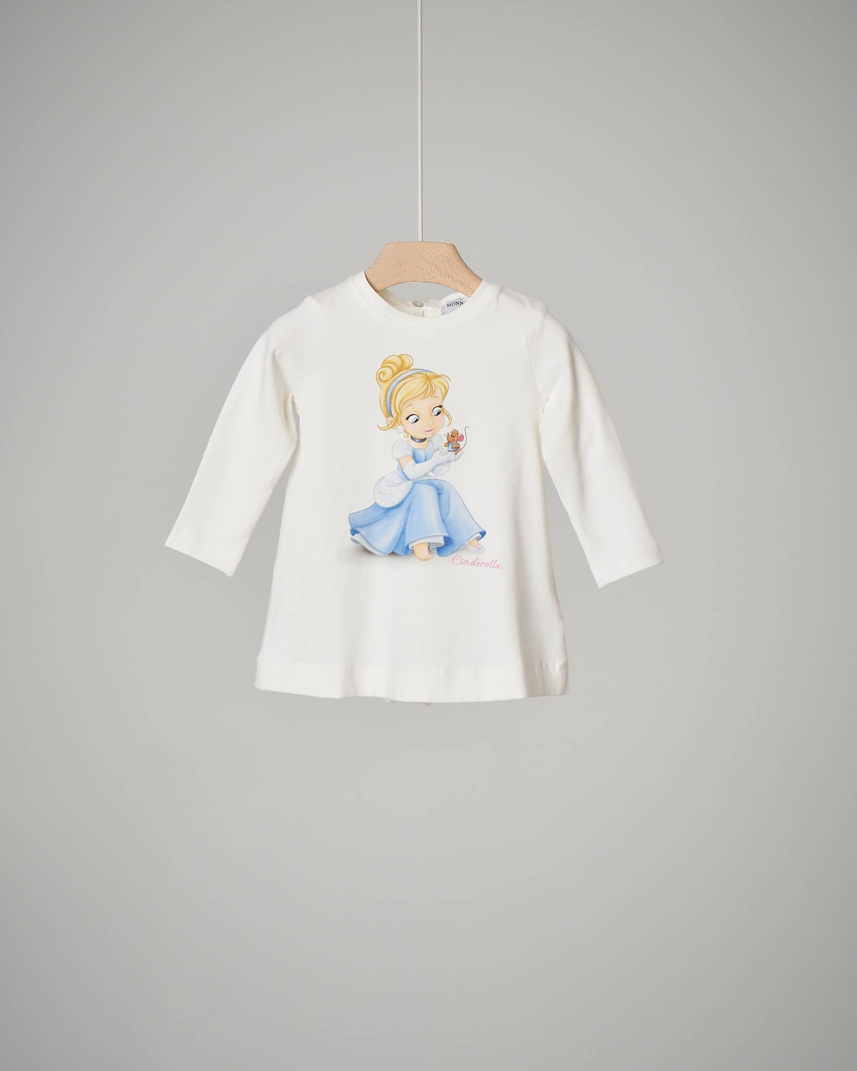 T-shirt bianca Cenerentola