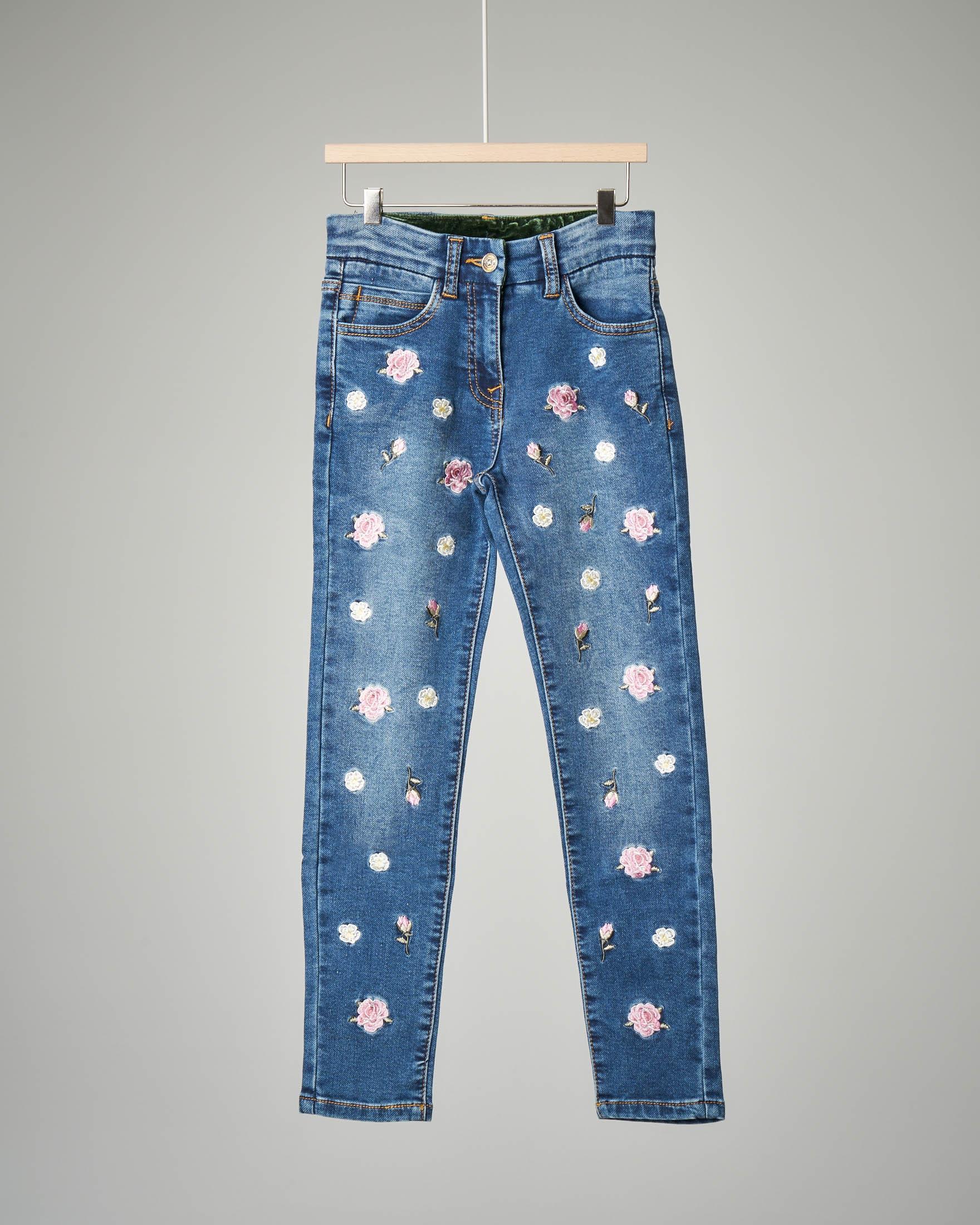 Jeans ricamato 8-12 anni
