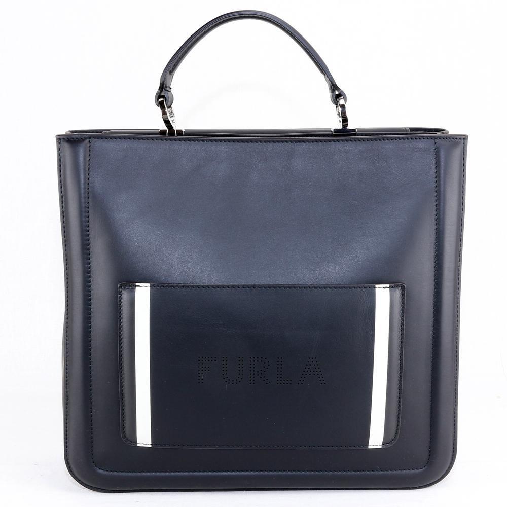 4e8b4a5bbc9f Hand and shoulder bag Furla REALE 985429 ONYX - LaBorsetteria.com