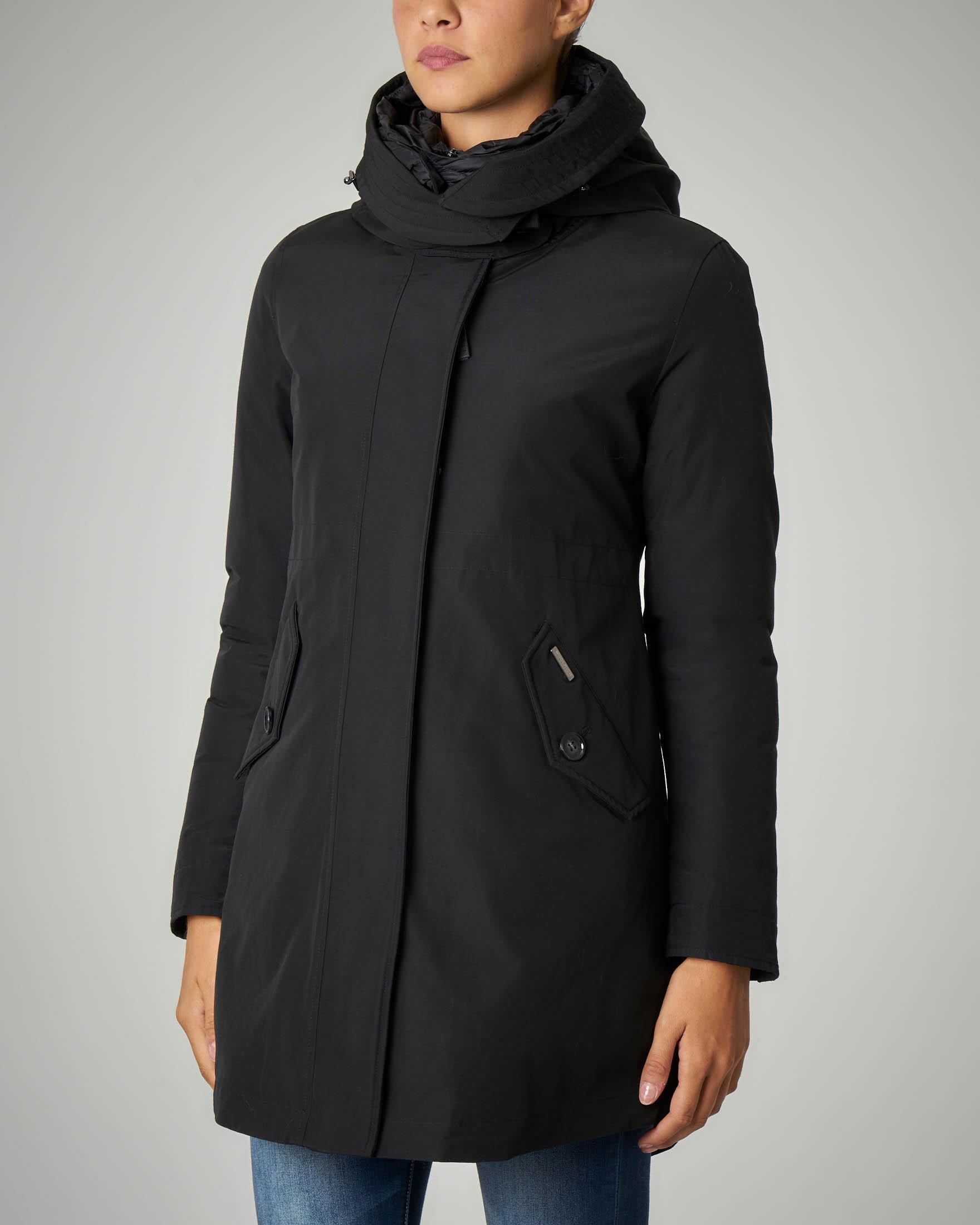 W'S Long Military Parka nero