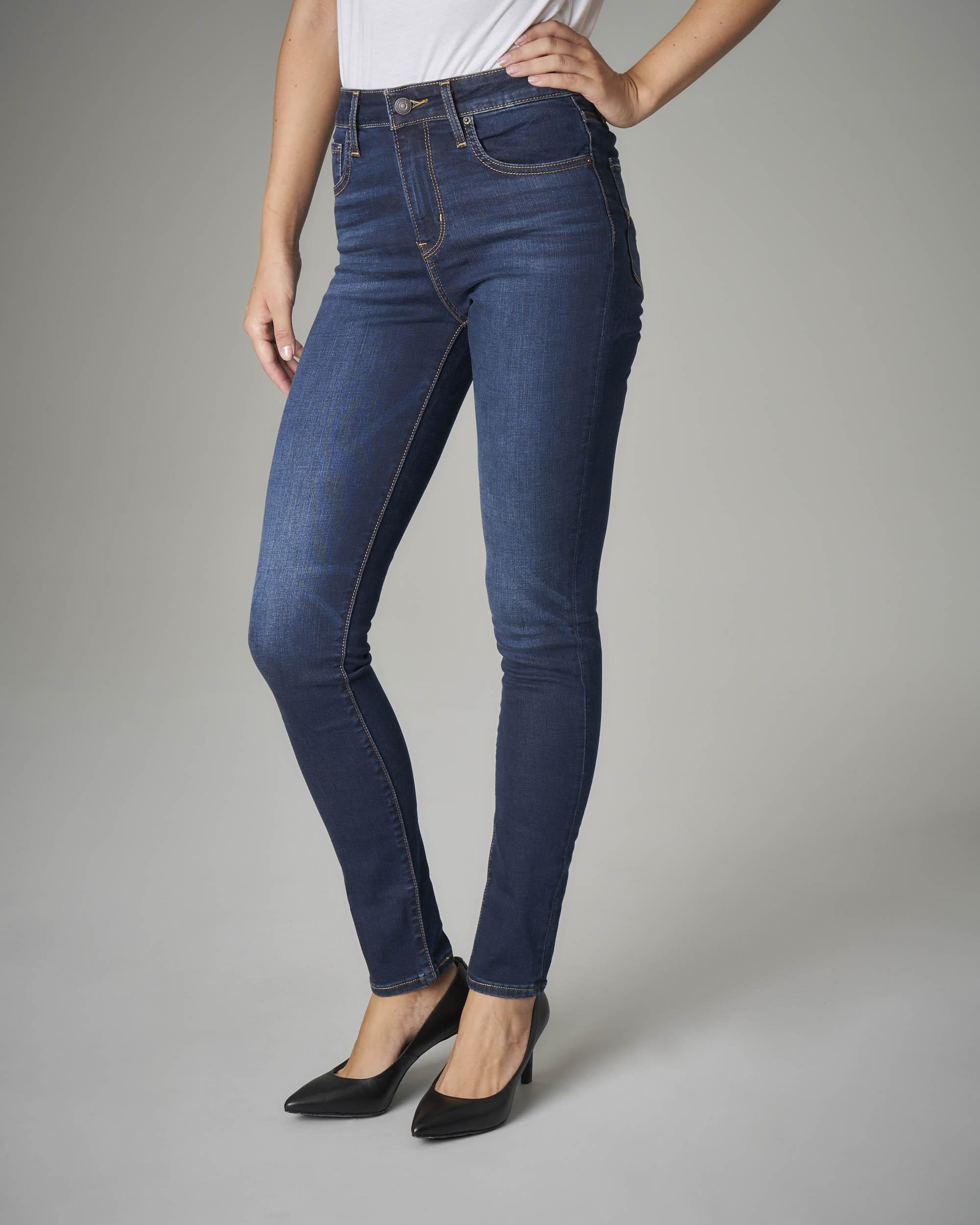 Jeans 721 skinny mid stretch a vita alta