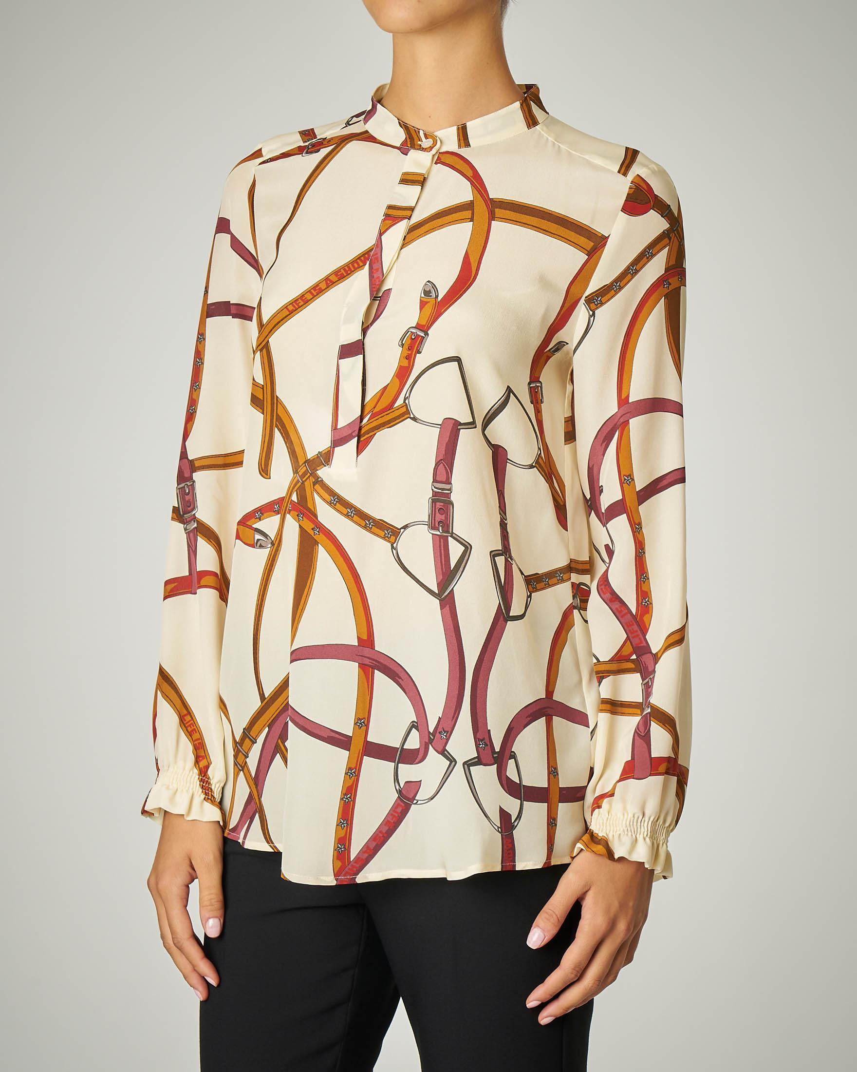 Camicia stampa ispirazione Hermès