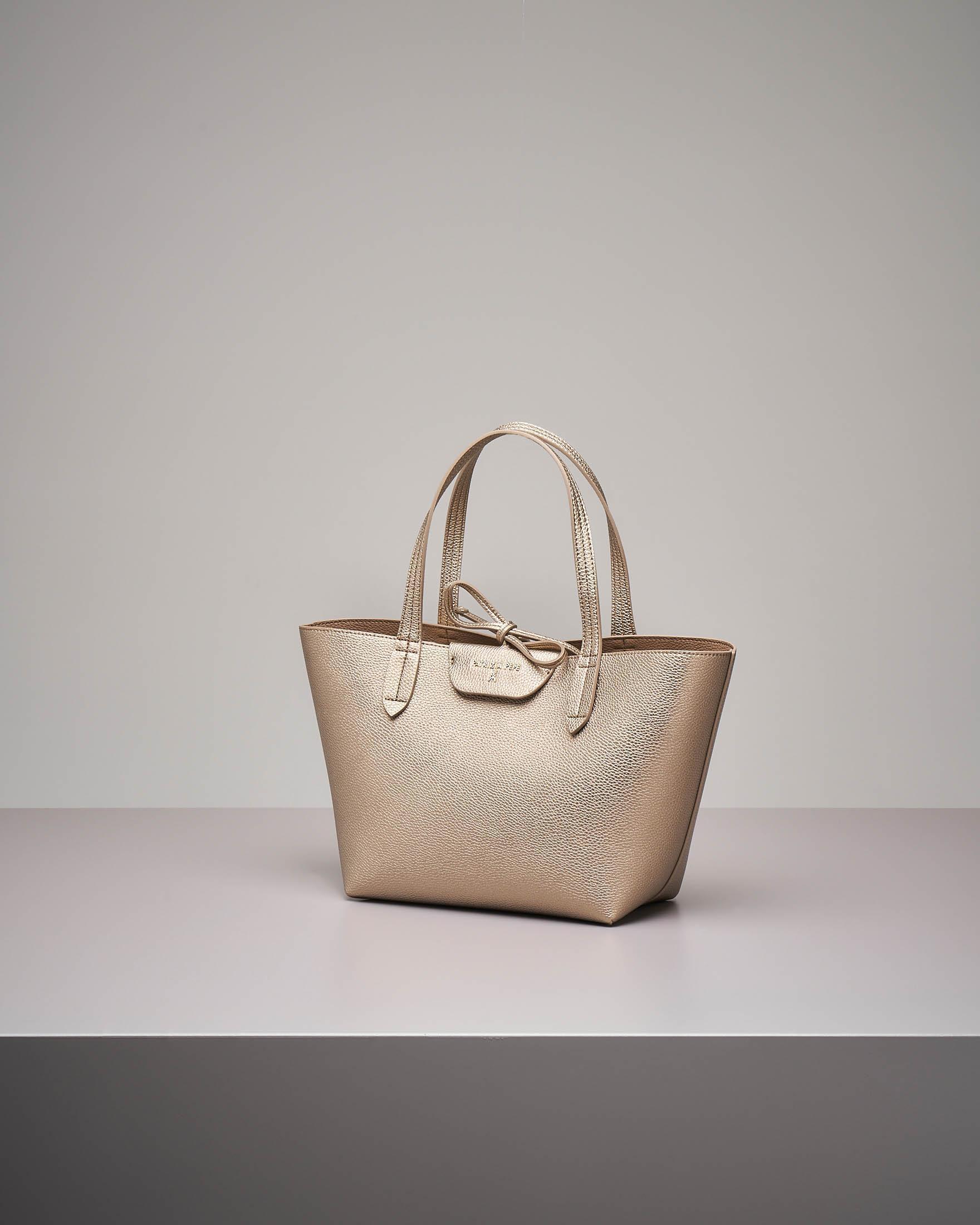 Shopping bag reversibile oro misura piccola