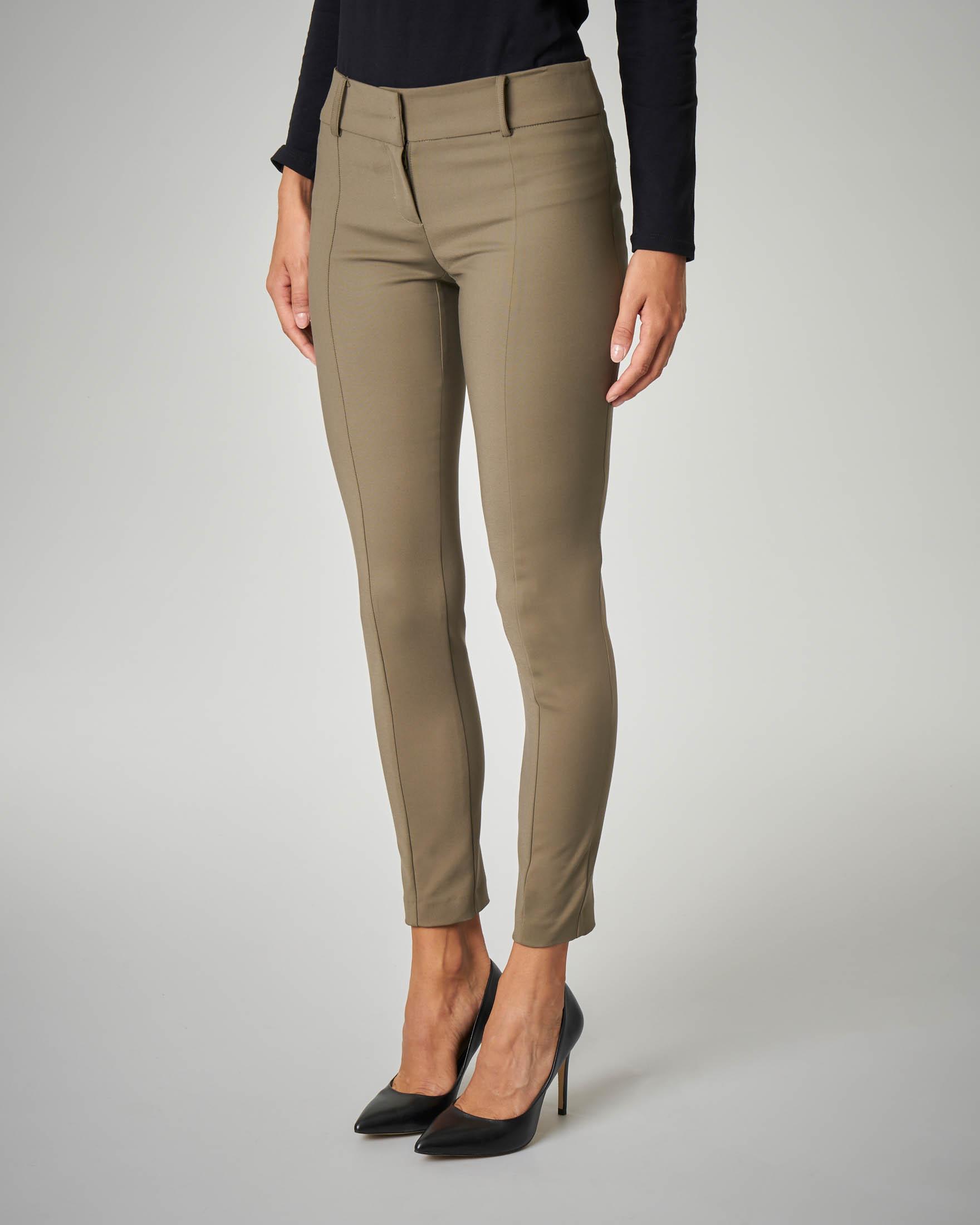 Pantalone verde militare skinny