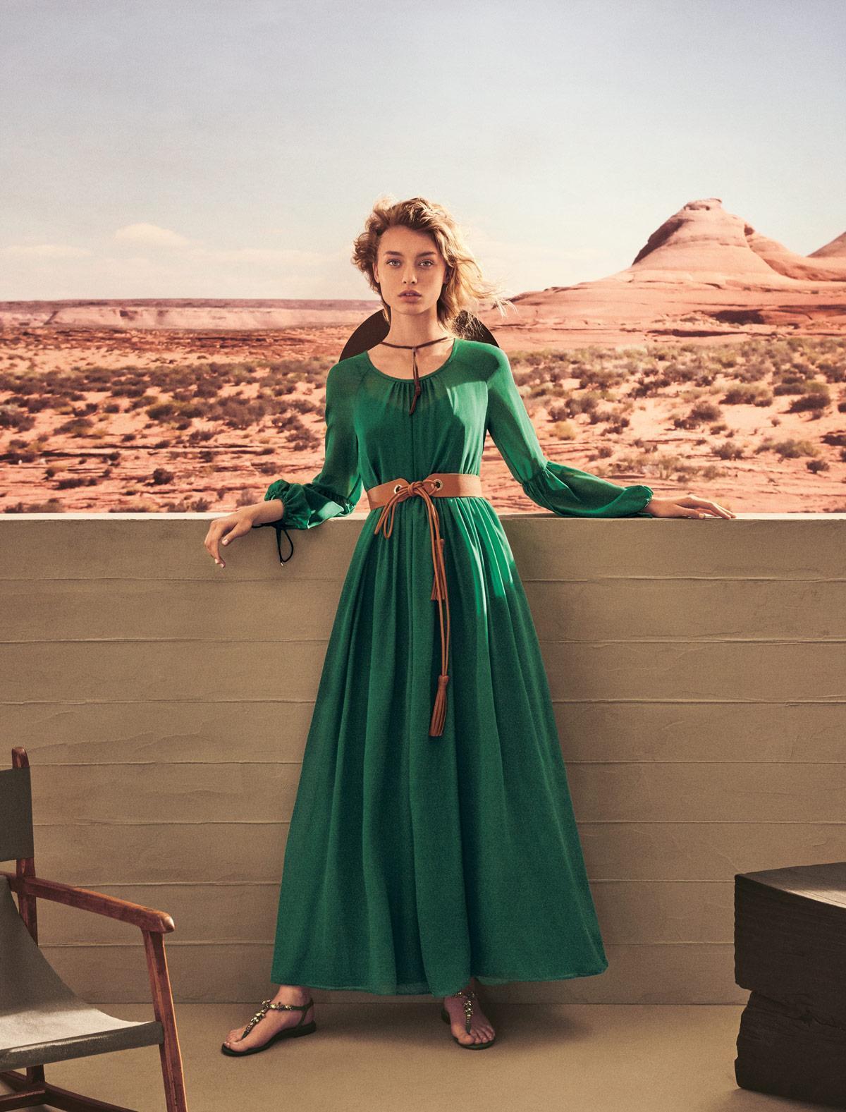 Vestito verde vintage