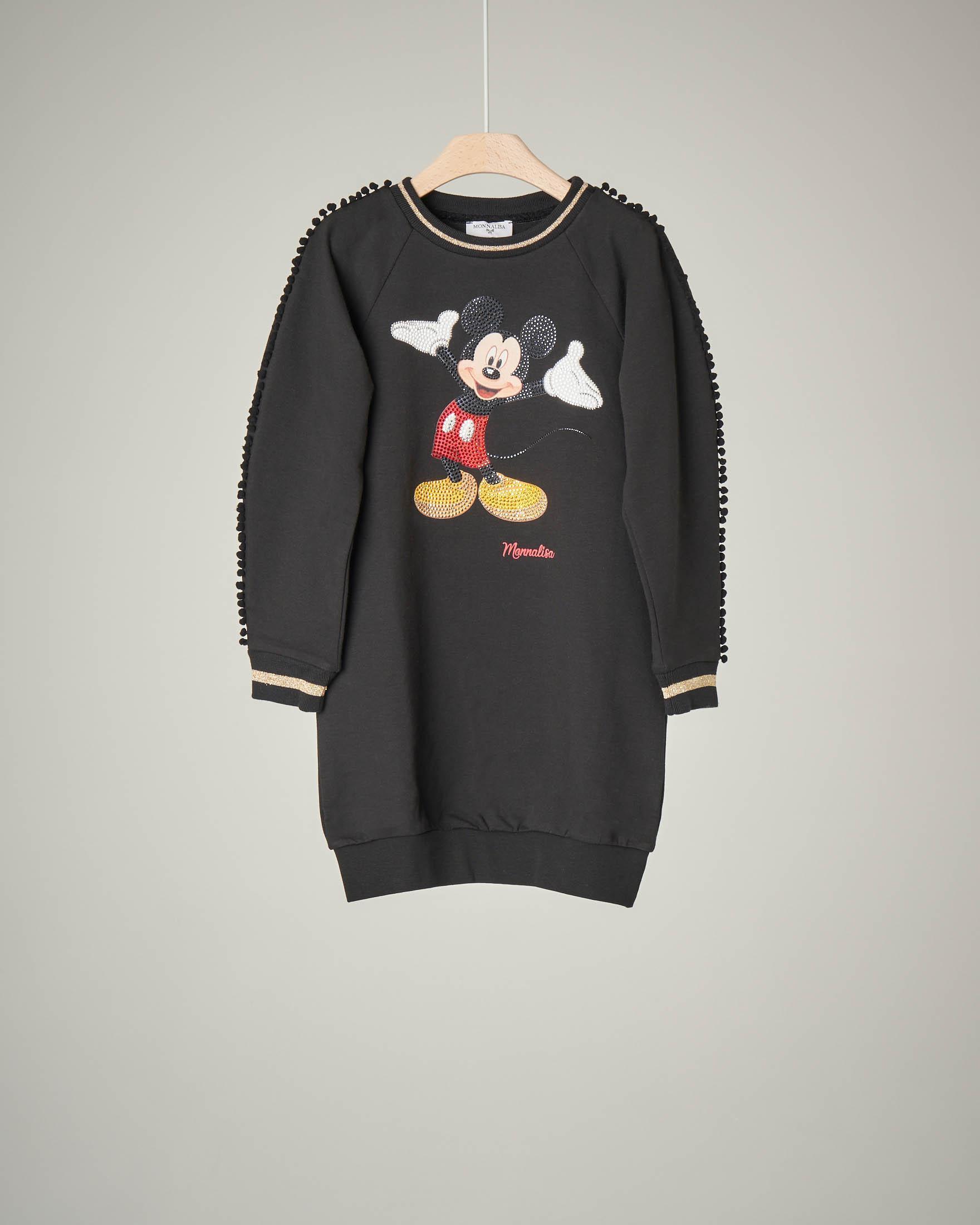 Abito nero felpa Mickey Mouse