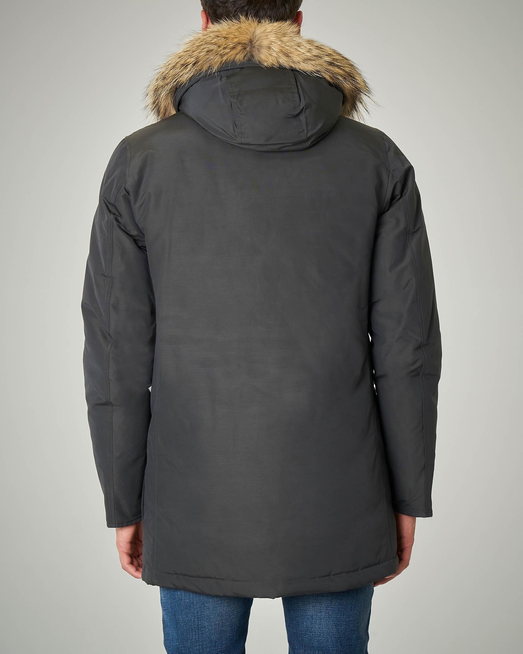 Arctic Parka Df grigio scuro