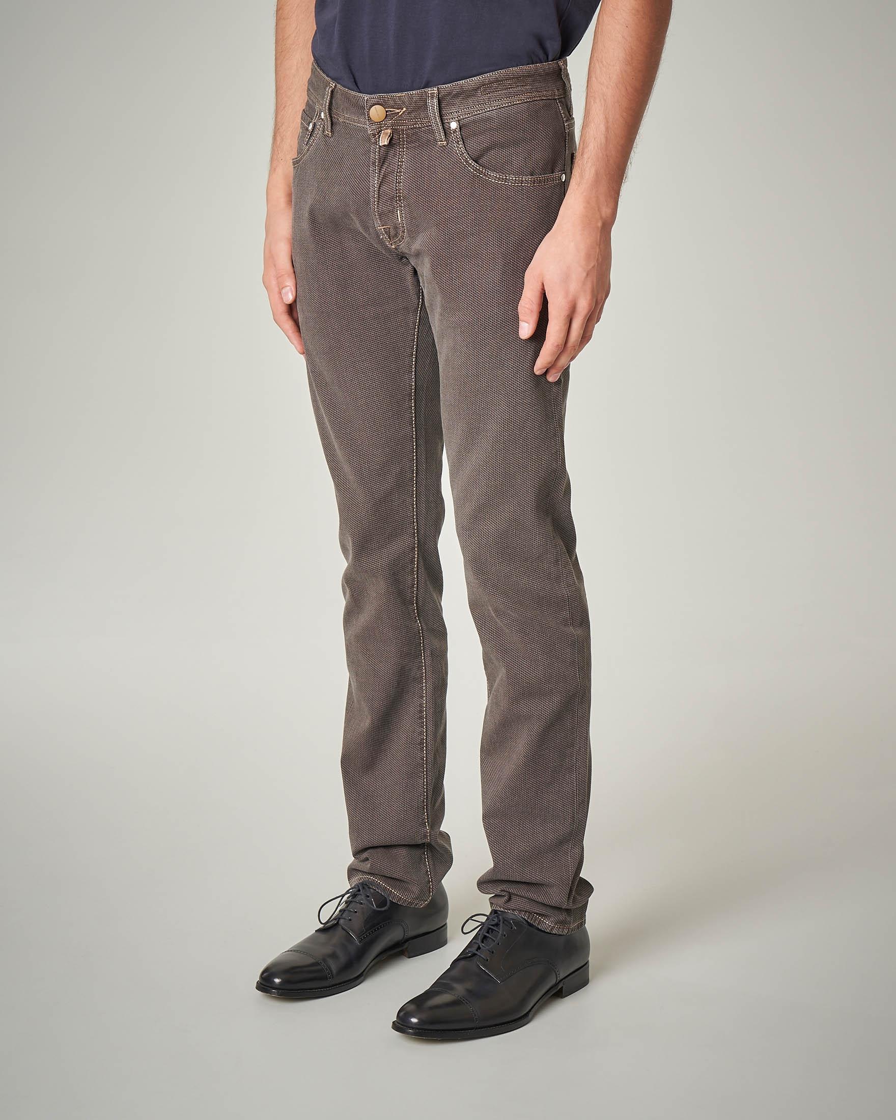 Pantalone cinque tasche marrone