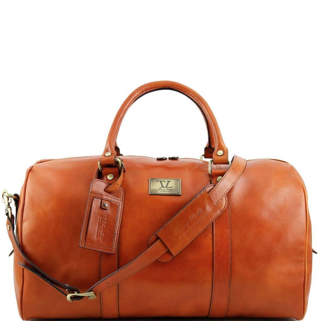 c7c7810ca9 Tuscany Leather TL141247 TL Voyager - Borsa da viaggio in pelle con tasca  sul retro - Misura grande Miele - LaBorsetteria.com