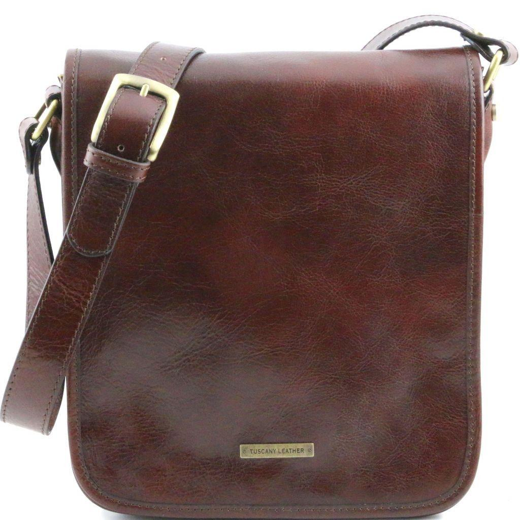 27413405c44d Tuscany Leather TL141255 TL Messenger - Two compartments leather shoulder  bag Brown - LaBorsetteria.com