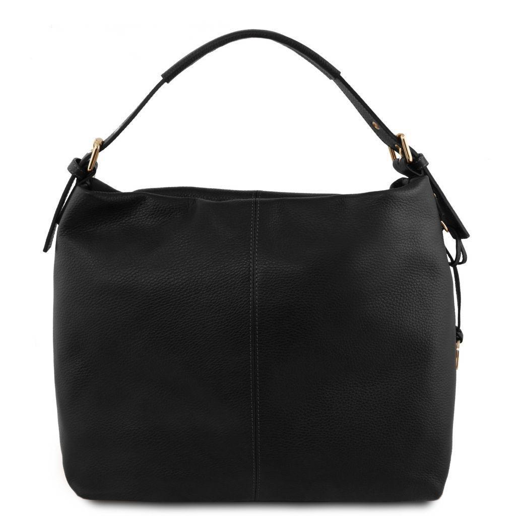 99e6e480a5ab Tuscany Leather TL141719 TL Bag - Soft leather hobo bag Black -  LaBorsetteria.com