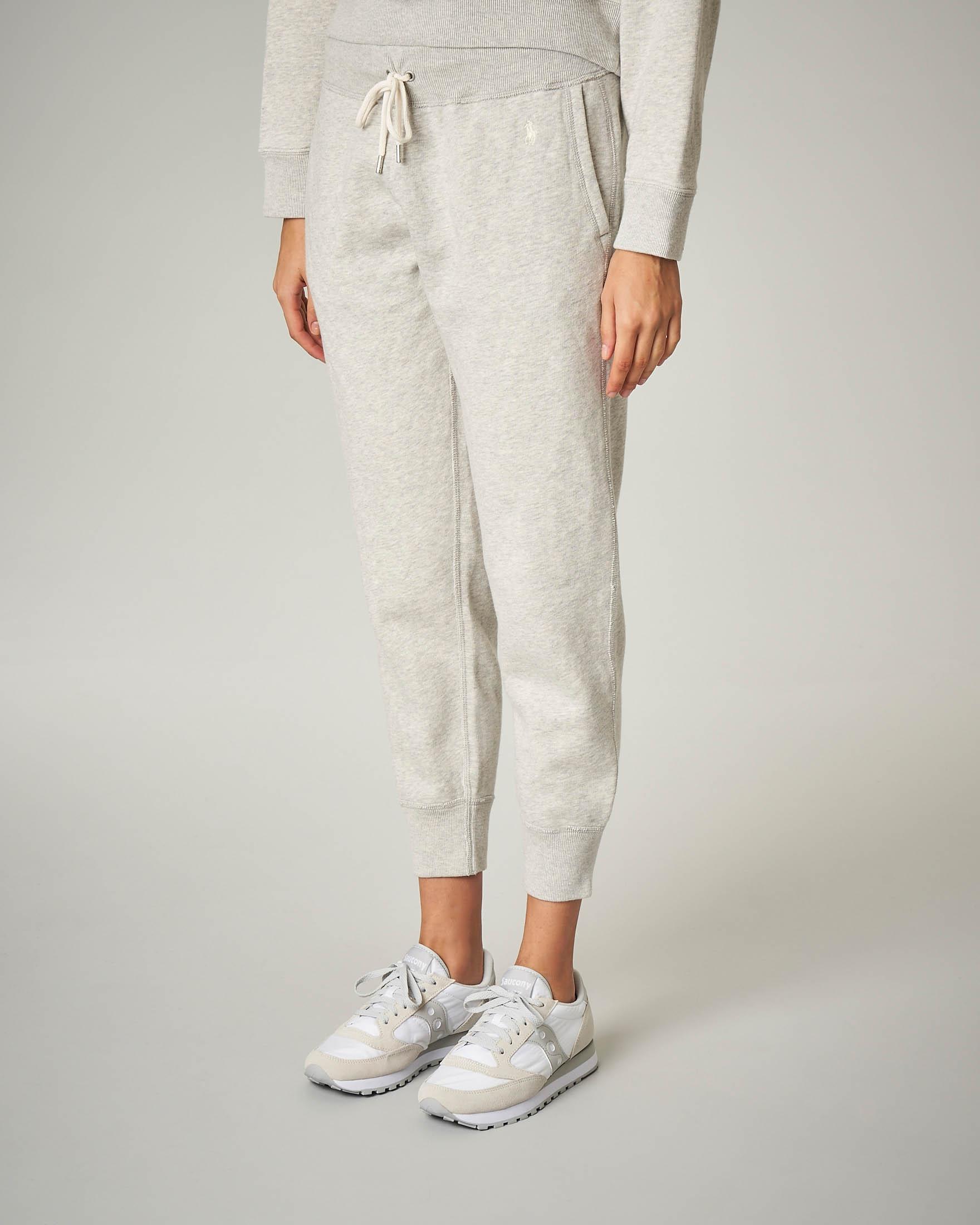 Pantaloni tuta grigi in felpa