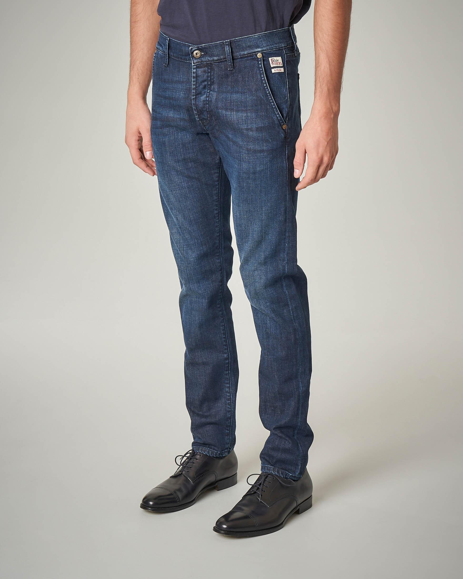 Jeans lavaggio medio-scuro tasca america