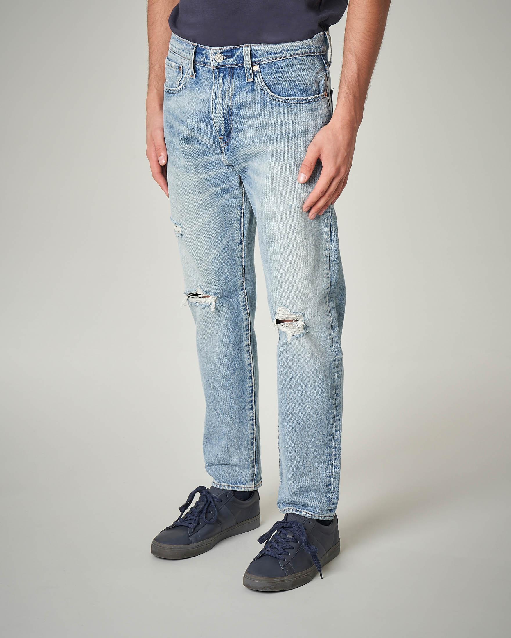 Jeans Hi-Ball tapered lavaggio chiaro