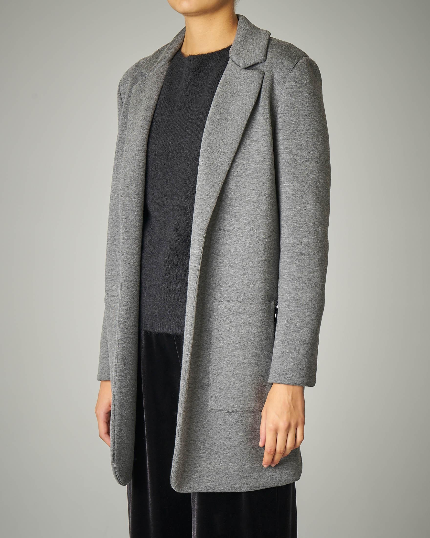 Cappottino in neoprene grigio