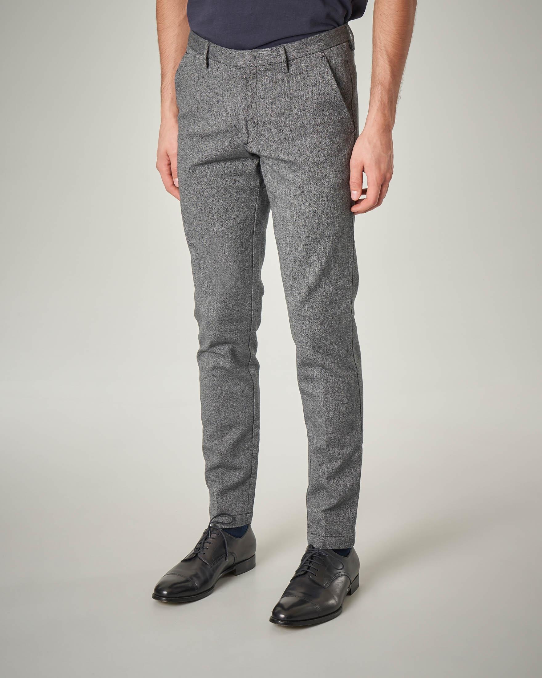 Pantalone grigio tessuto moulinè