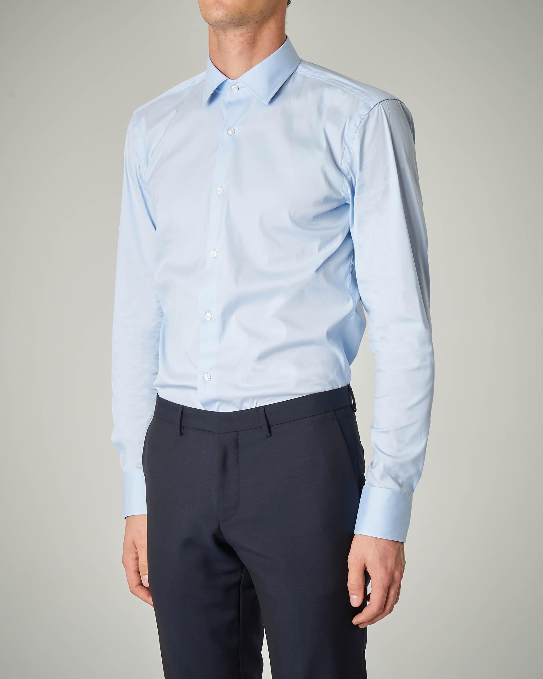 Camicia azzurra stretch