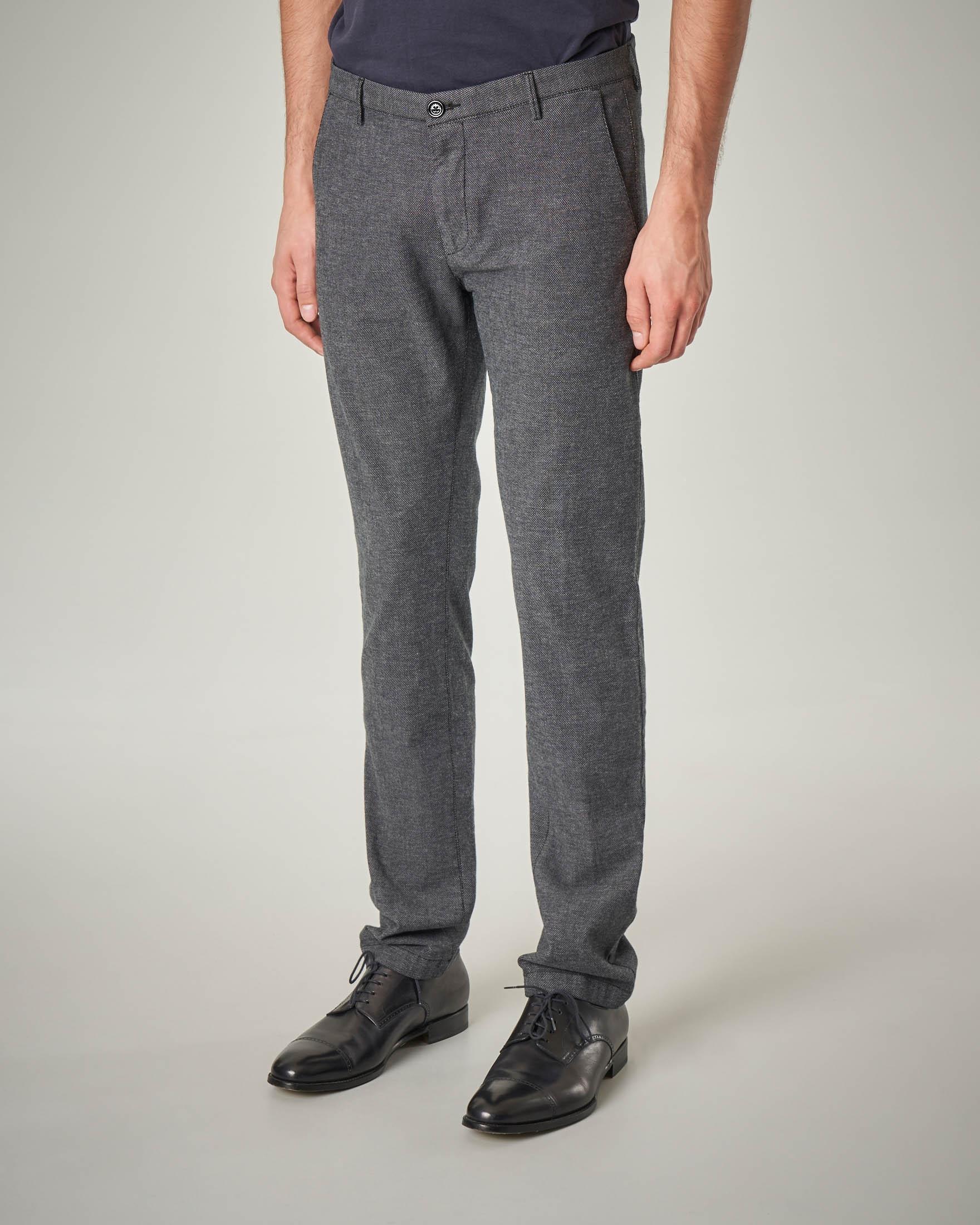 Pantalone grigio tessuto strutturato