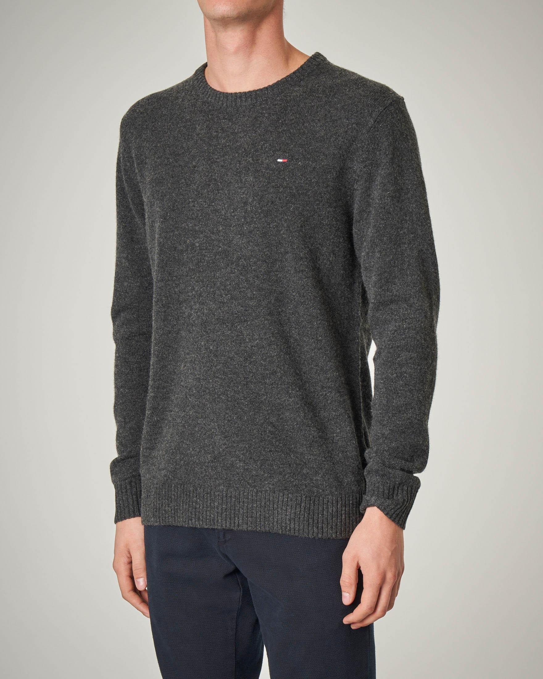 Maglia grigio scuro in lana