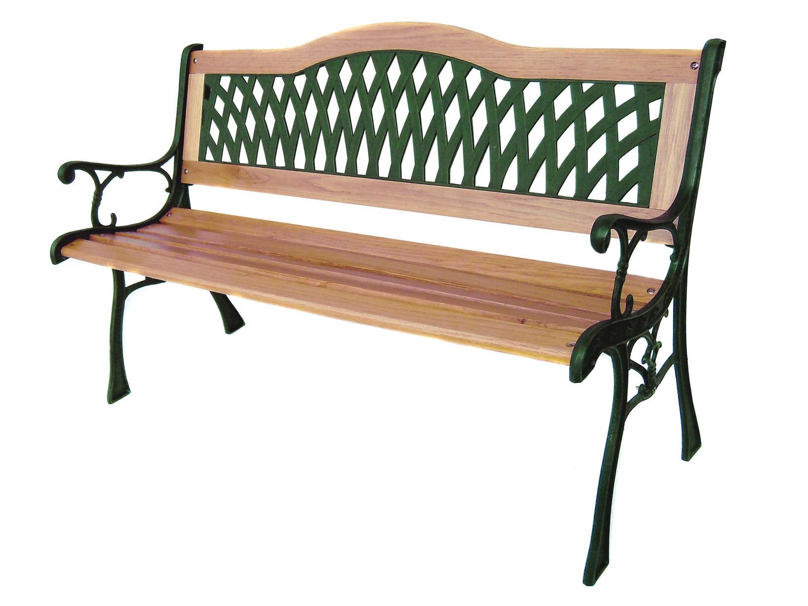 Panchina In Legno Da Giardino.Home Panchina Legno Ghisa Verde 126x53x75 Giardino Arredo Da Esterno