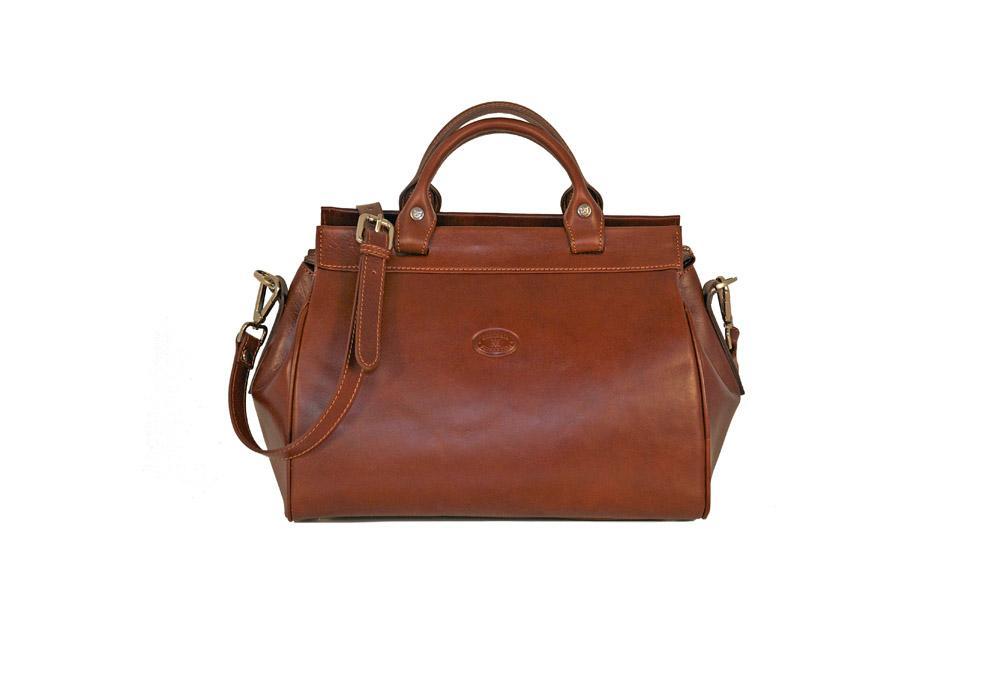 46ba780d9a CUOIERIA FIORENTINA Borsa da medico donna Cuoio borsa pelle Marrone - Made  Italy - Glooke