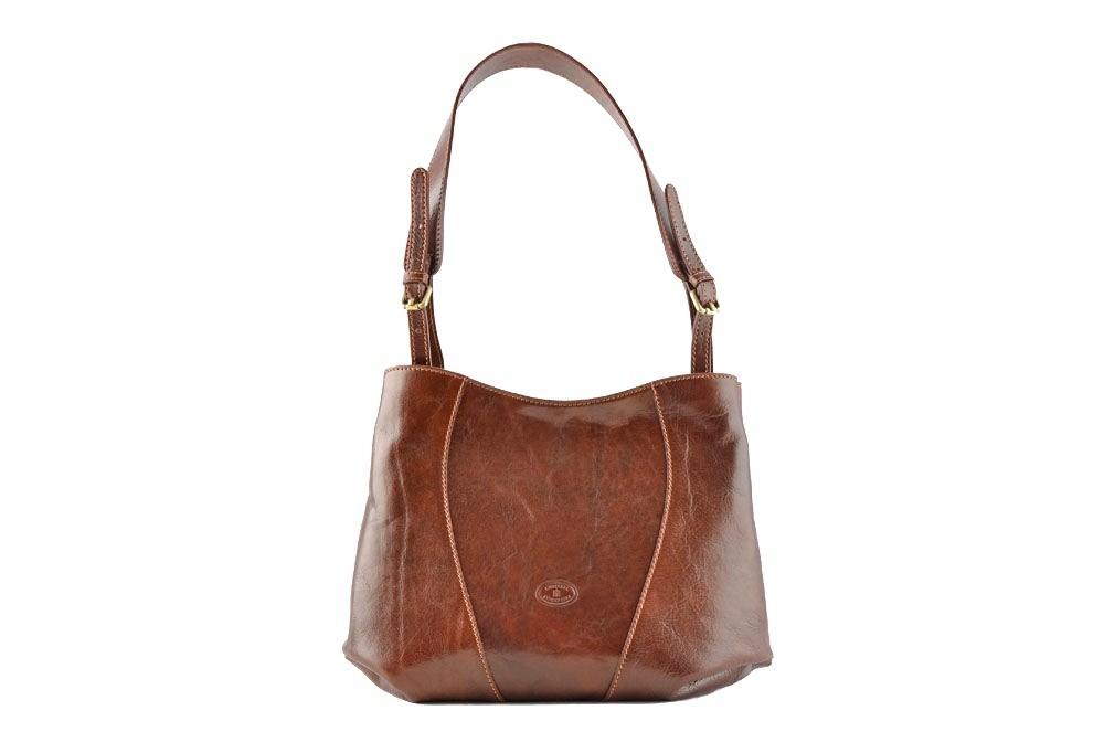 CUOIERIA FIORENTINA Secchiello cuoio borsa donna pelle Marrone - Made Italy  - Glooke Marketplace d4b522388ac