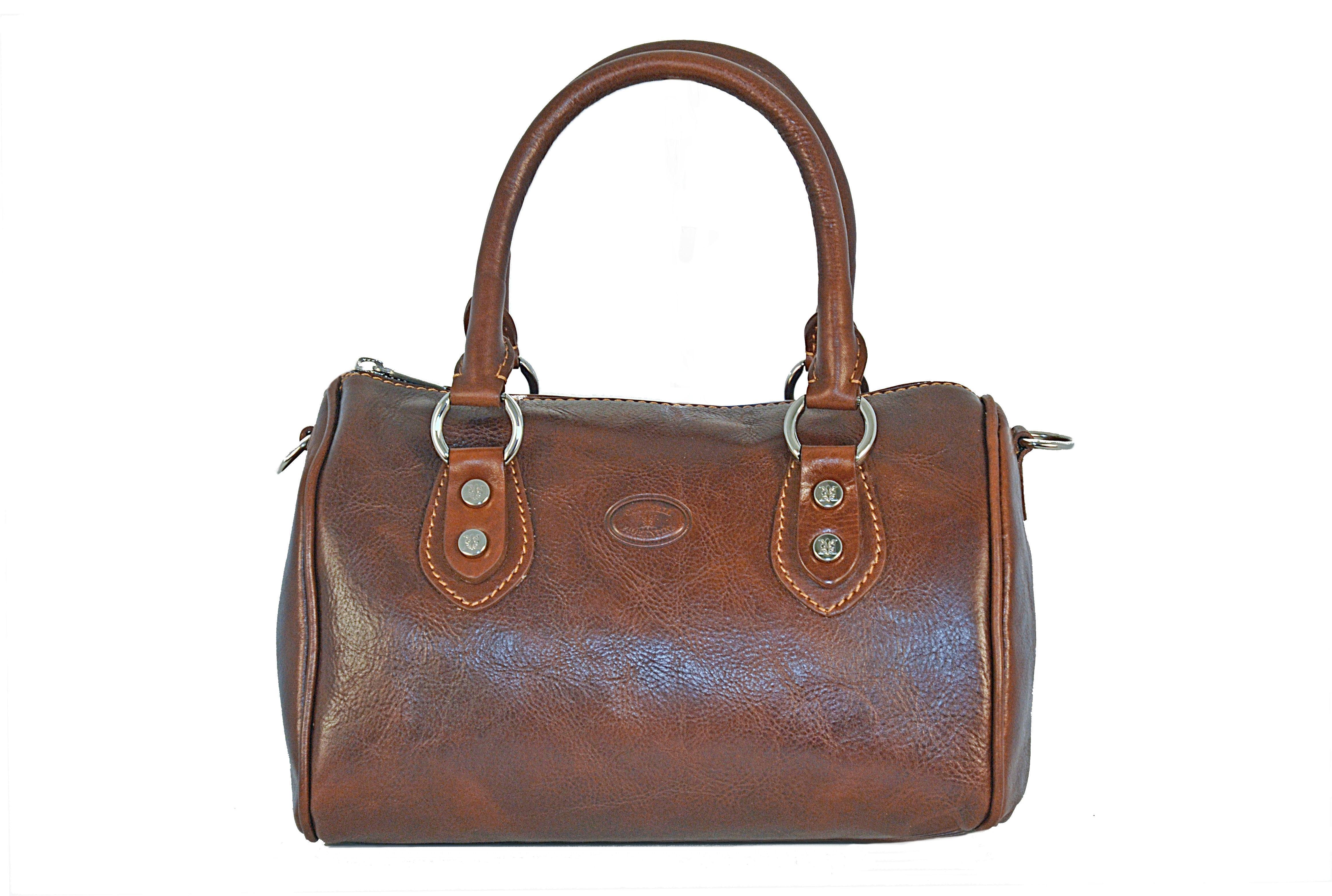 CUOIERIA FIORENTINA Bauletto in cuoio borsa donna pelle Marrone - Made in  Italy - Glooke Marketplace 4c78d287bad