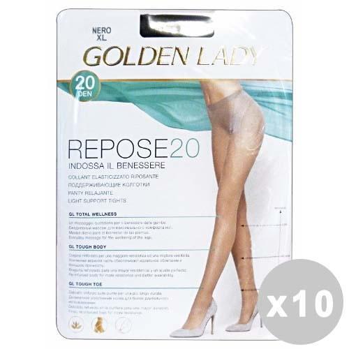 Image of GOLDEN LADY Repose Set 10 GOLDEN LADY Repose Collant 20 den grigio fumo taglia II 36f