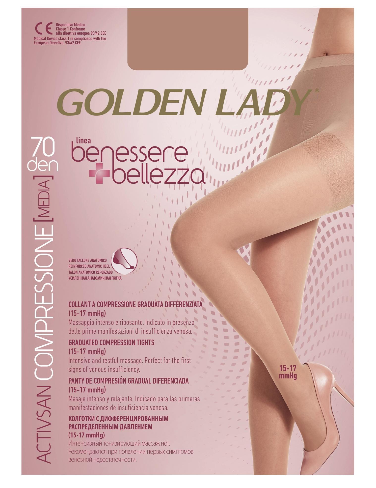 best sneakers 52d0e fdec4 GOLDEN LADY Wellness & Beauty Pantyhose 70 Den Black Cut Ii G115 Women's  Socks
