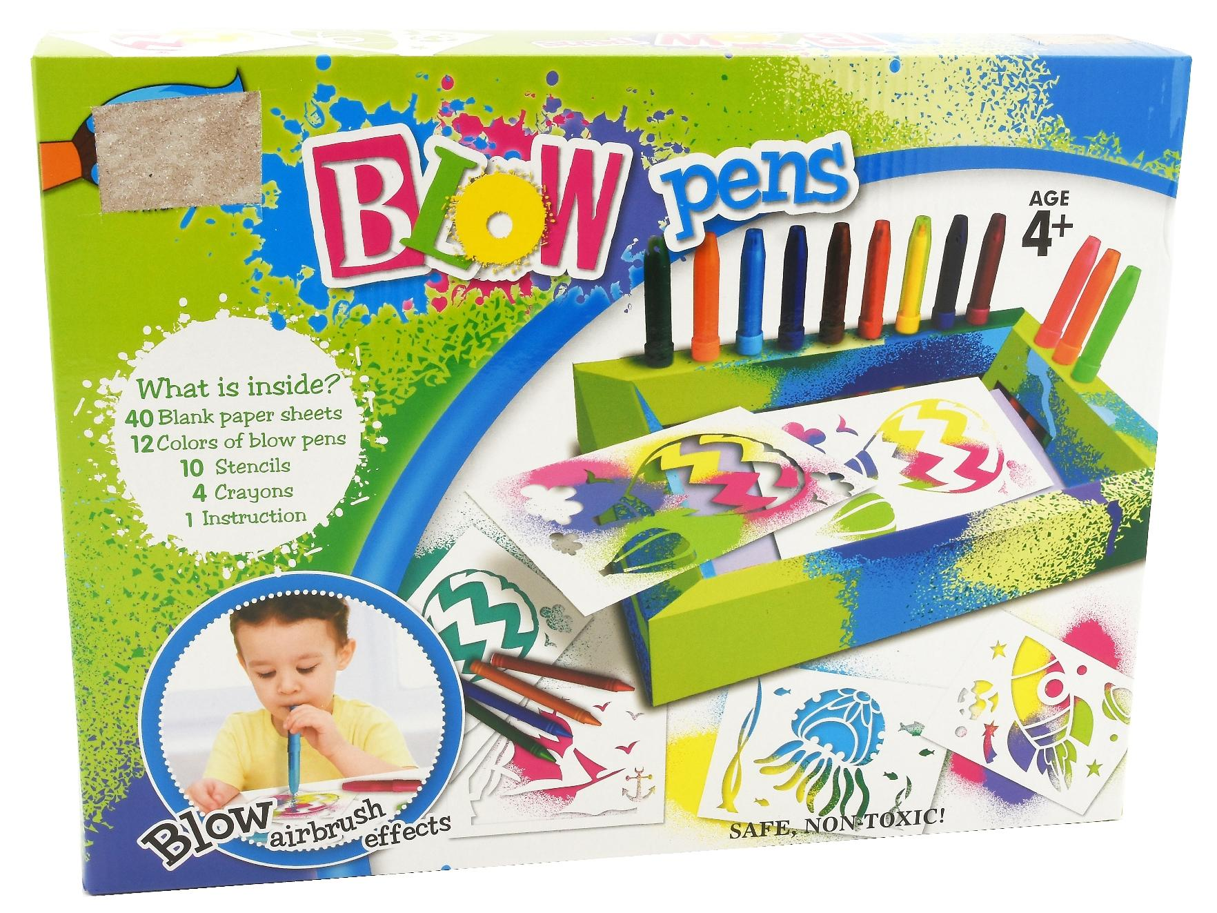 GLOBO Pennarelli set creativo con stencil - giocattoli