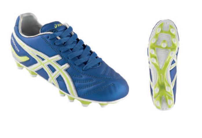 lowest price ac3a6 c636e ASICS Scarpe calcio junior WARRIOR JR NR blu elettrico giallo fluo JSP992
