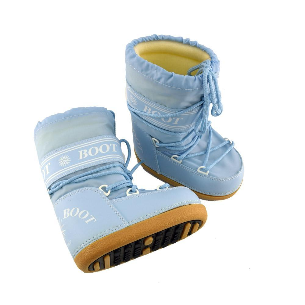 l'ultimo b0192 8aa15 MYSNOW Doposci Boot Junior Azzurro (Taglie 32-33-34) Neve Caldi Comodi  Imbottiti